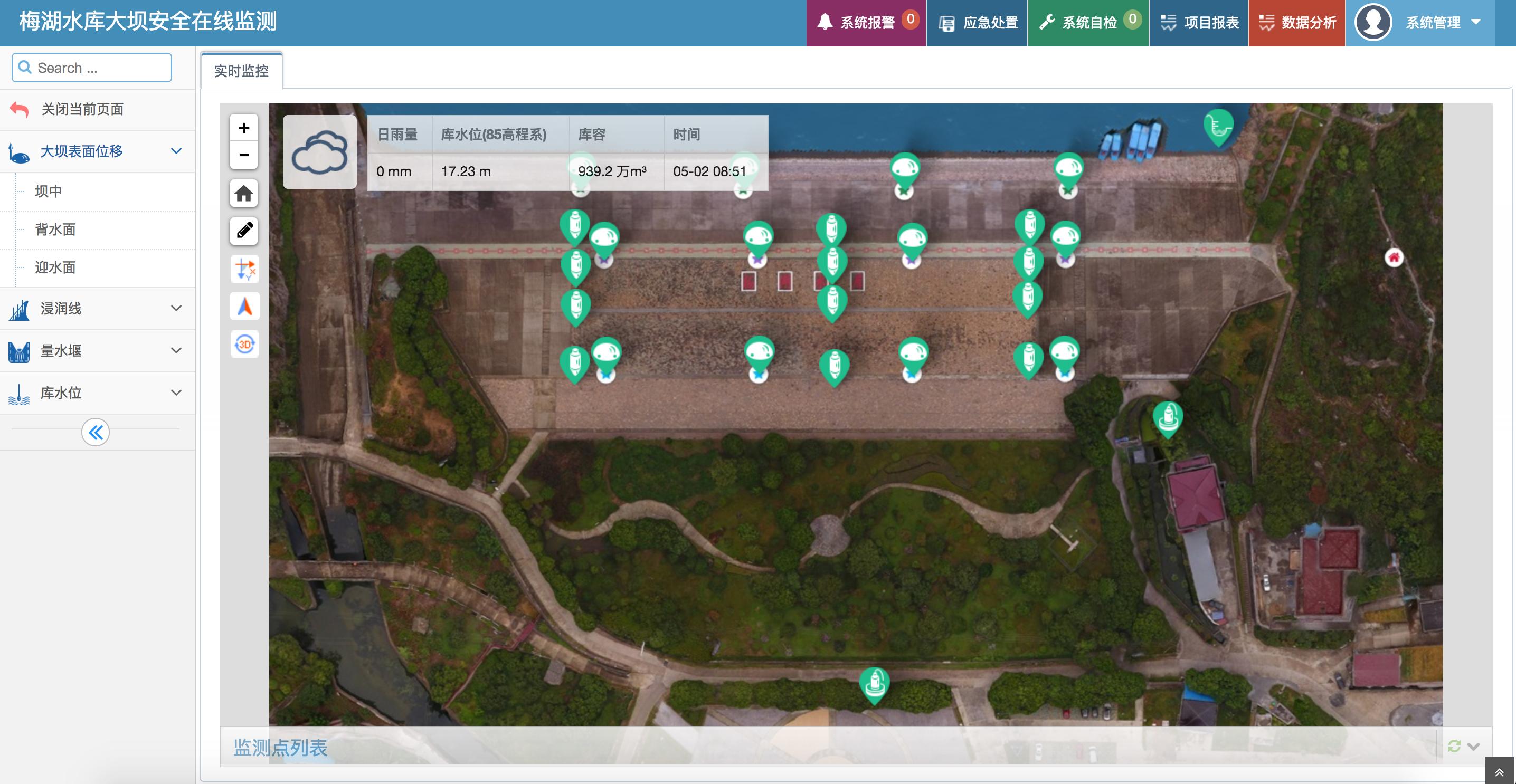 梅湖水库大坝安全监测系统