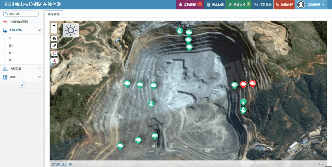 四川凉山拉拉铜矿在线监测-水印
