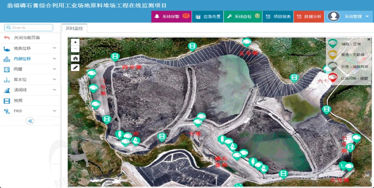 瓮福磷石膏综合利用工业场地原料堆场工程在线监测系统-水印