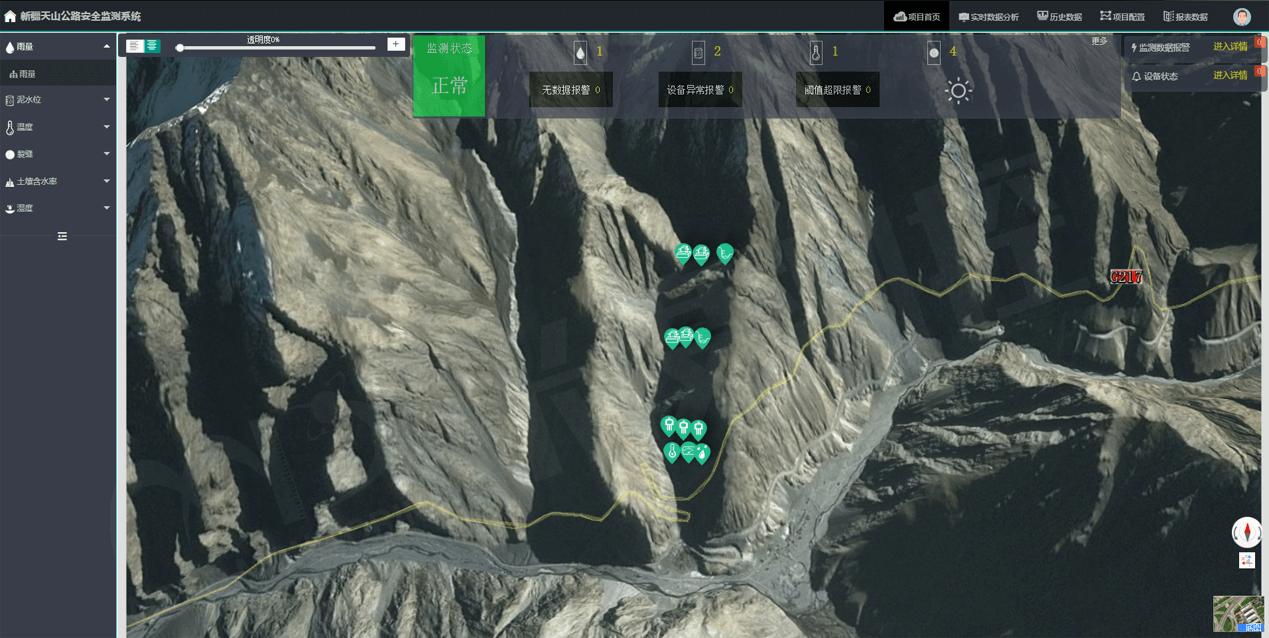 新疆天山公路安全监测系统-水印
