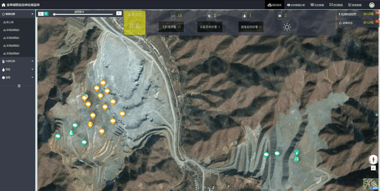 金堆城钼业边坡监测系统-水印