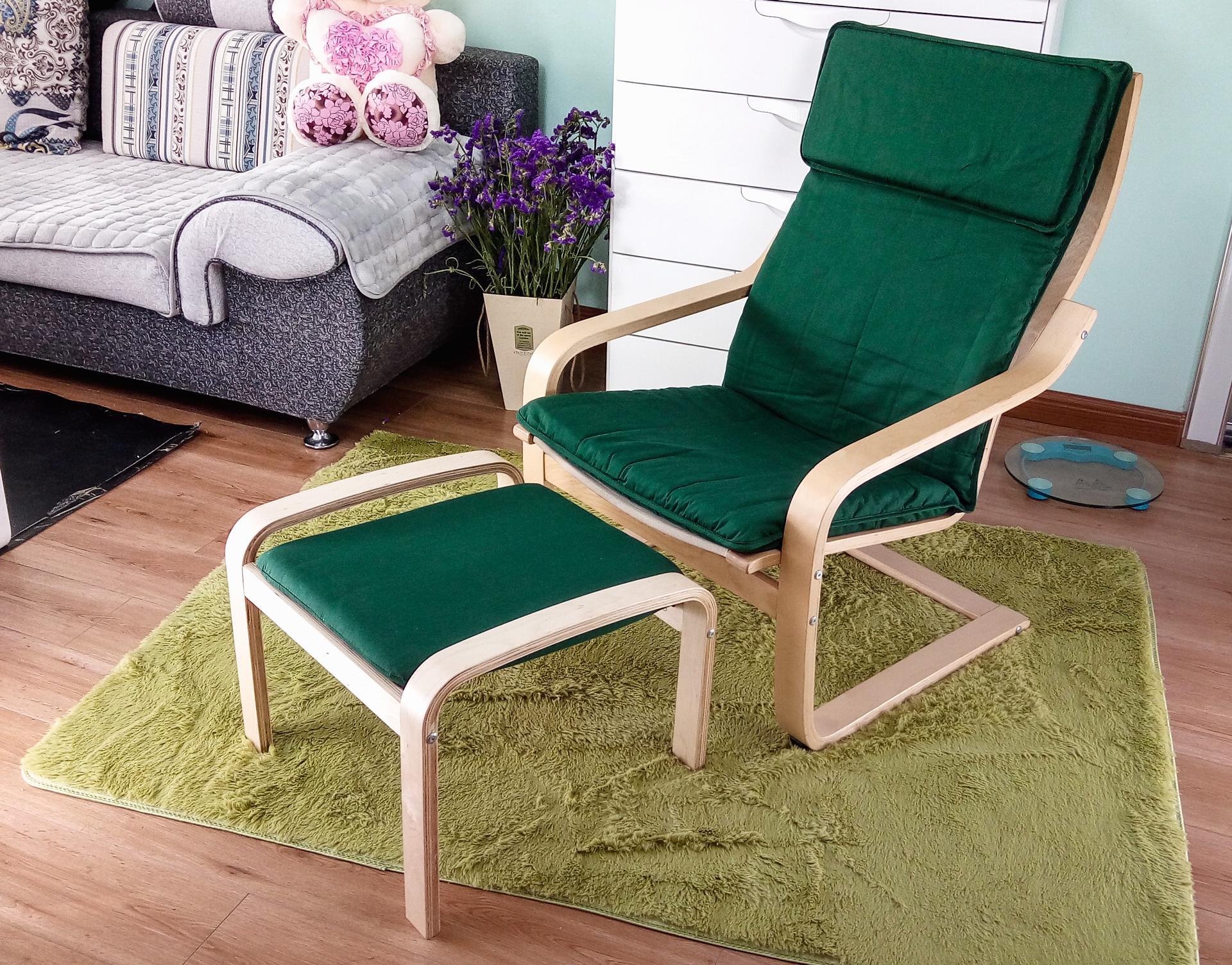 龙8国际手机版休闲椅出口版墨绿色纯棉