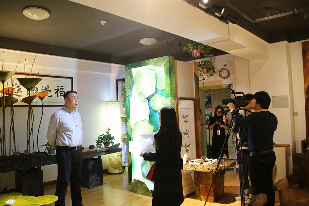 长春电视台采访叶知东方