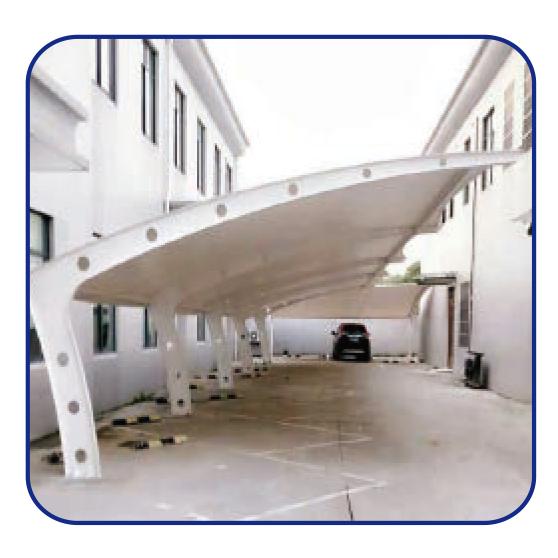 钢结构停车棚-2