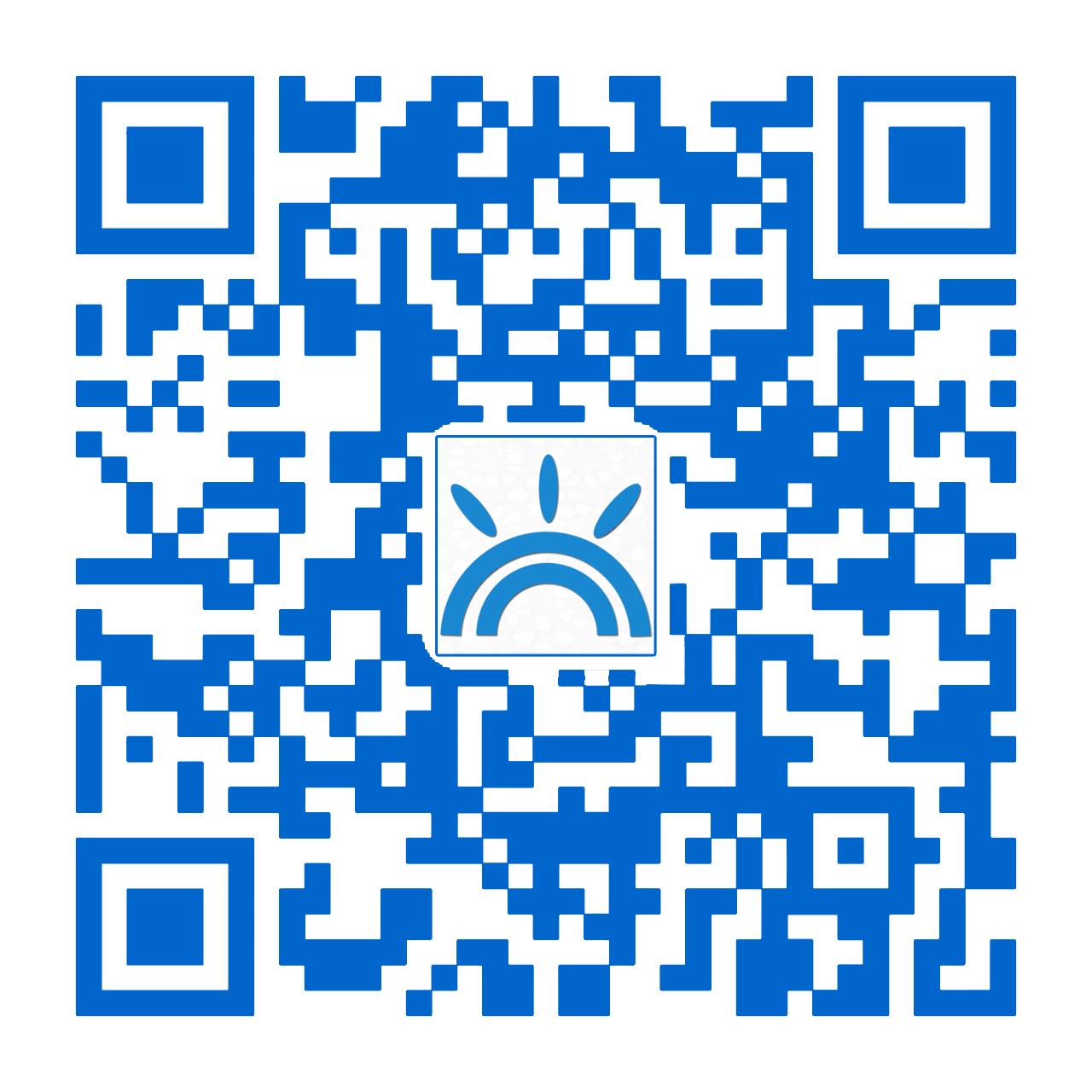 微信二維碼藍色