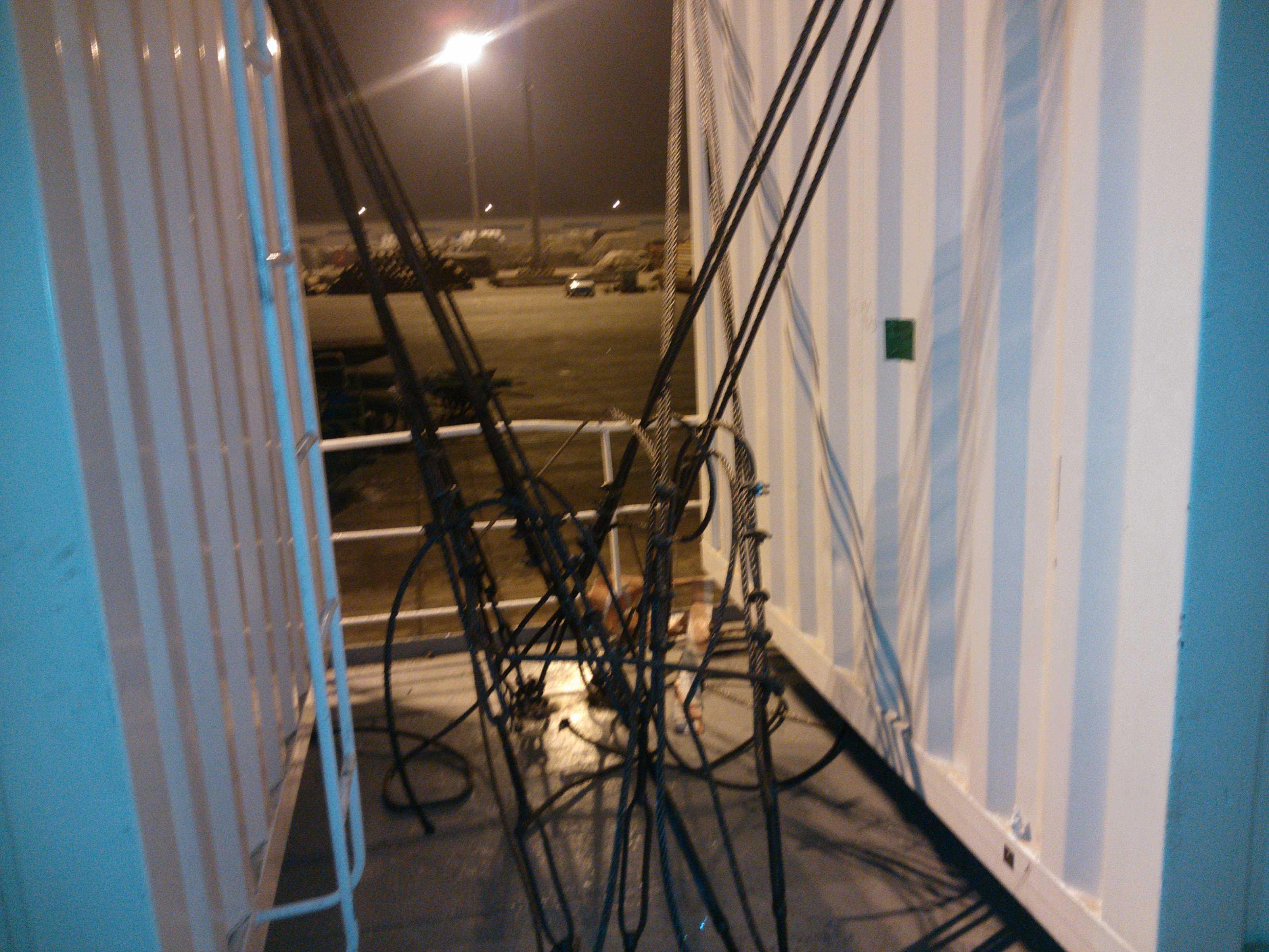 910营房垫料、绑扎和加固等完成装船示意图