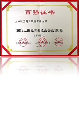 2019上海民營制造業前100名