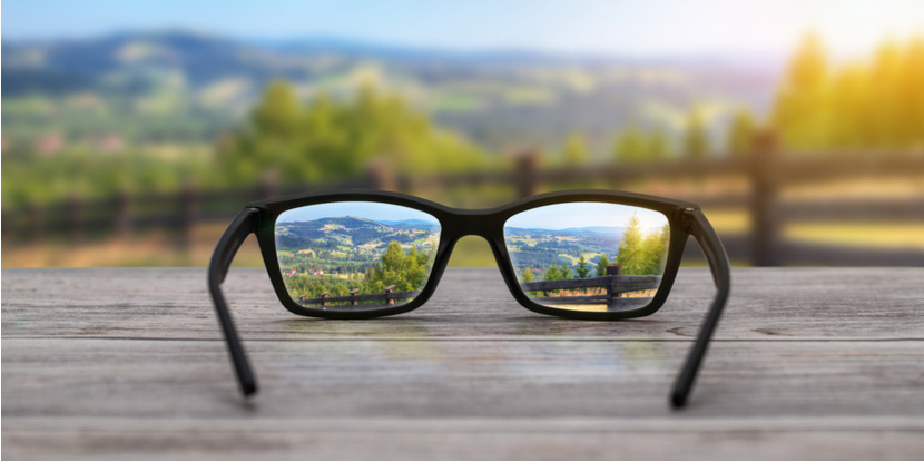 Glasses-focus-distance-vision