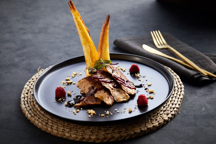 Fried foie gras in French style