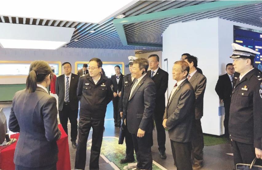 2019年1月24日,甘肅省副省長、省公安廳黨委書記、廳長余建來我公司調研