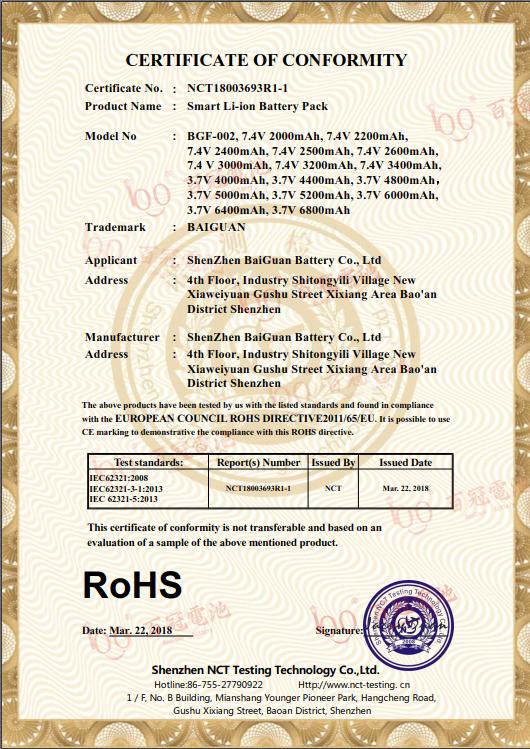 RoHS報告
