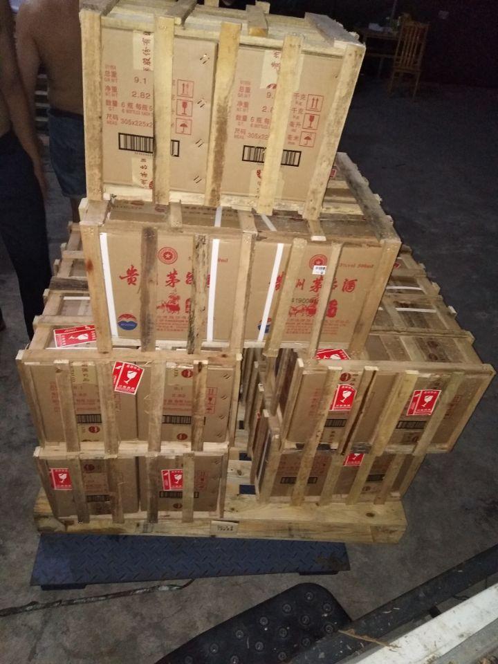 紅酒白酒空運木架包裝