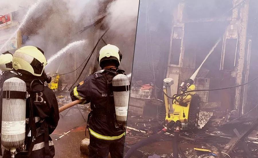 消防机器人与消防员协同作战