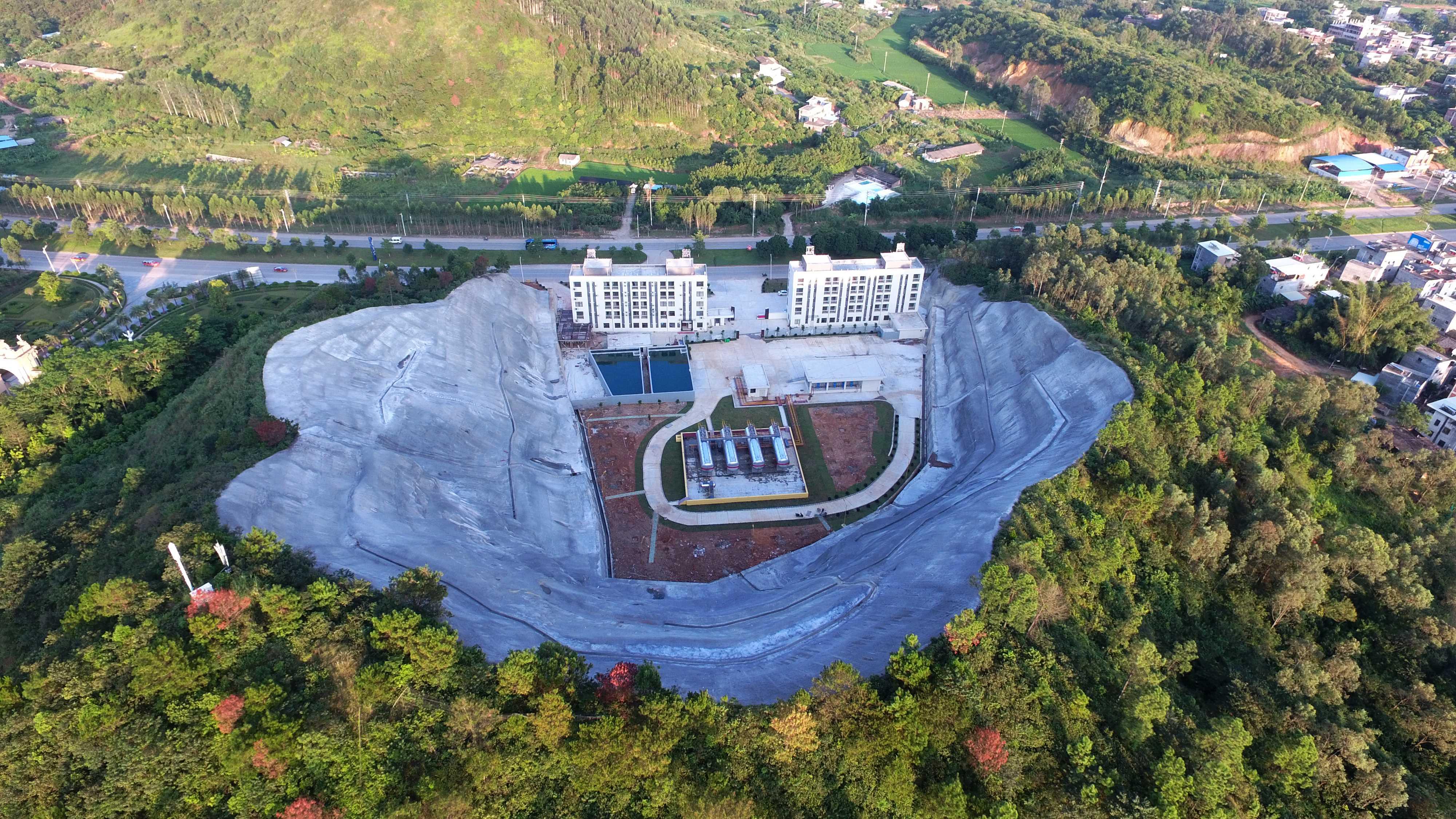 邊坡鳥瞰圖-臨江燃氣站