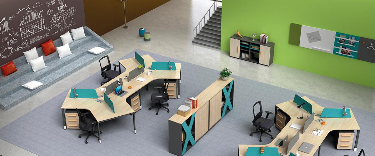 办公区-职员屏风办公桌