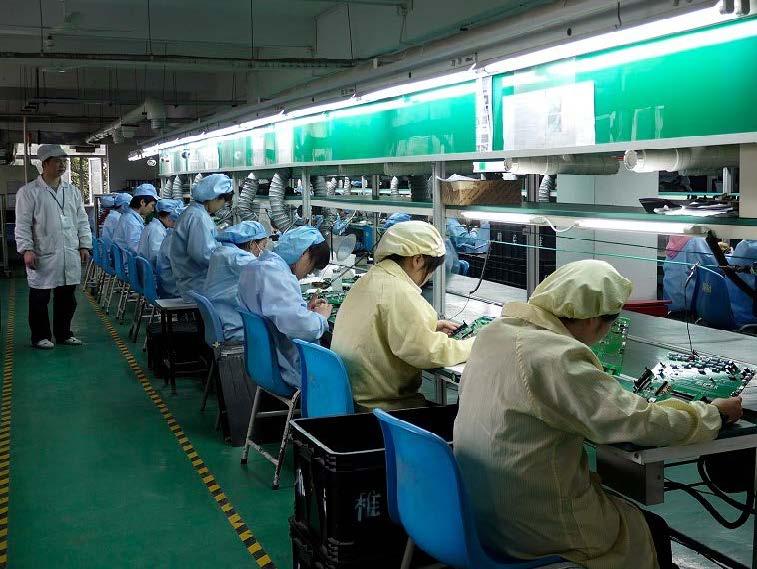 上海巨傳電子PTH焊接車間3