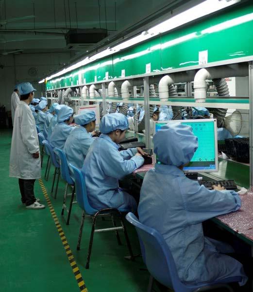 上海巨傳電子PTH焊接車間1