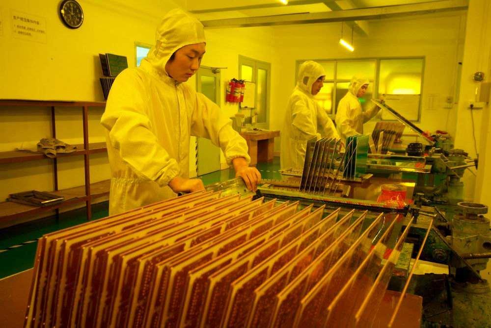 上海巨傳電子PCB制造車間