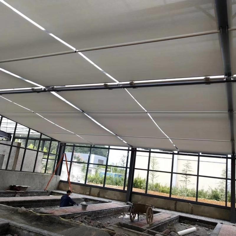 电动天棚遮阳折帘