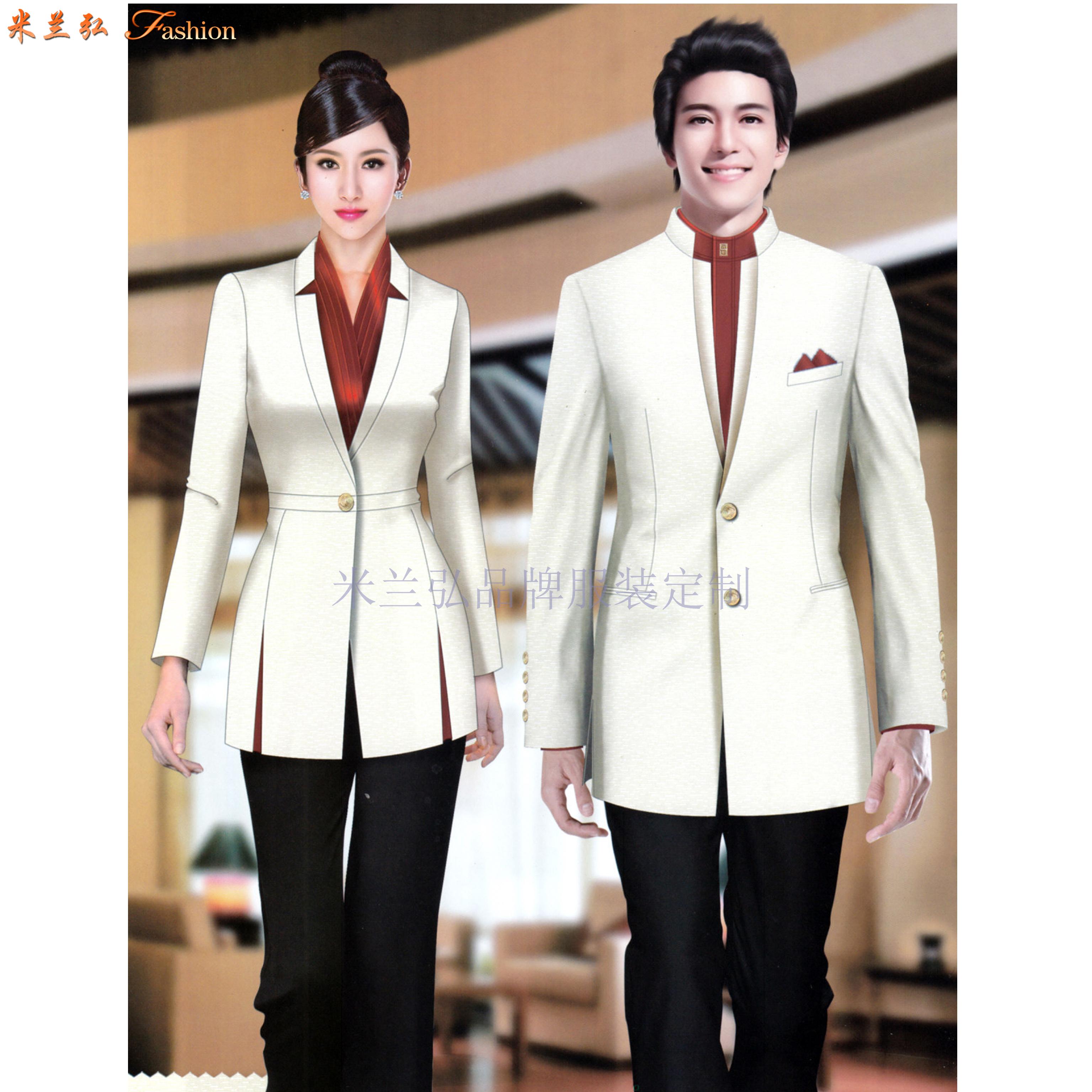 酒店會所制服定做|五星級酒店高級會所工服設計定制-米蘭弘服裝-2