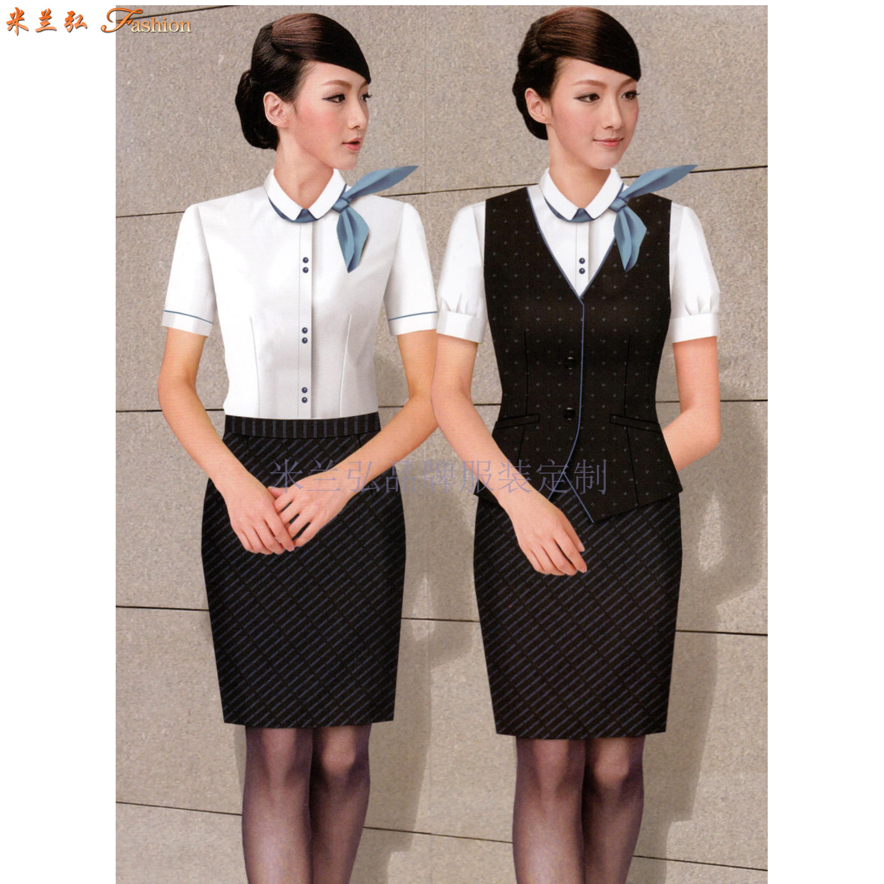 「空姐服原創設計制做」米蘭弘品牌服裝廠家直供優質空乘職業裝-4