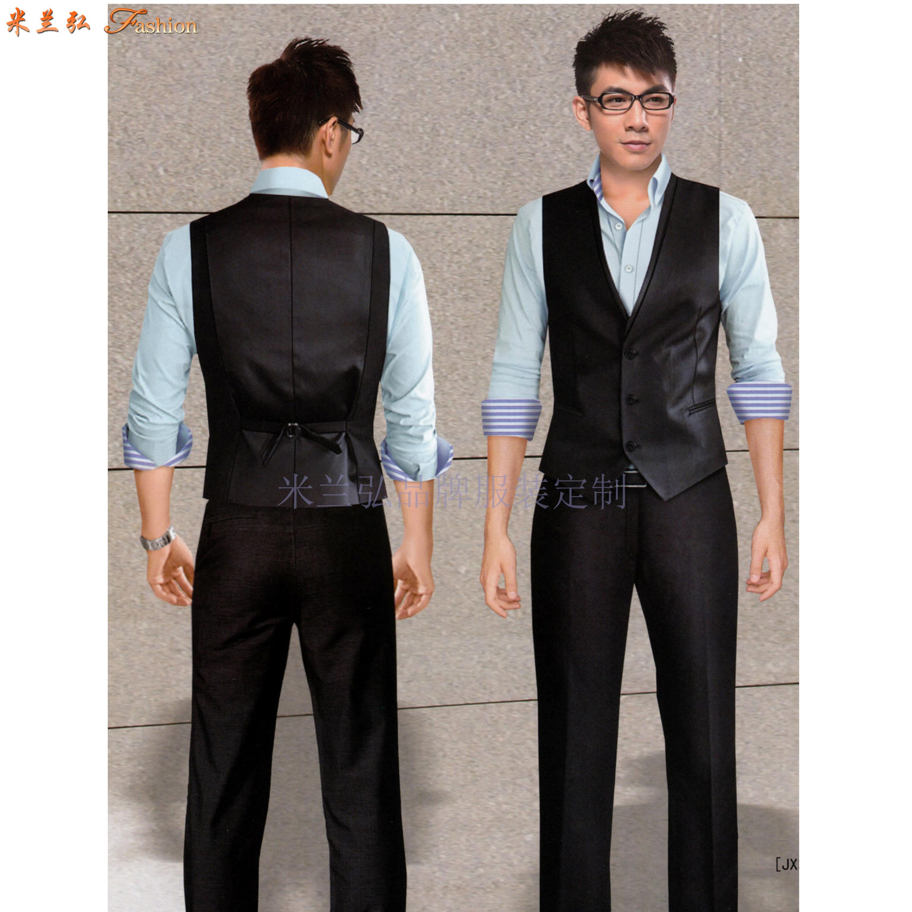 「北京西服定制圖片」男士西服搭配1外套1褲子-米蘭弘西服品牌-3