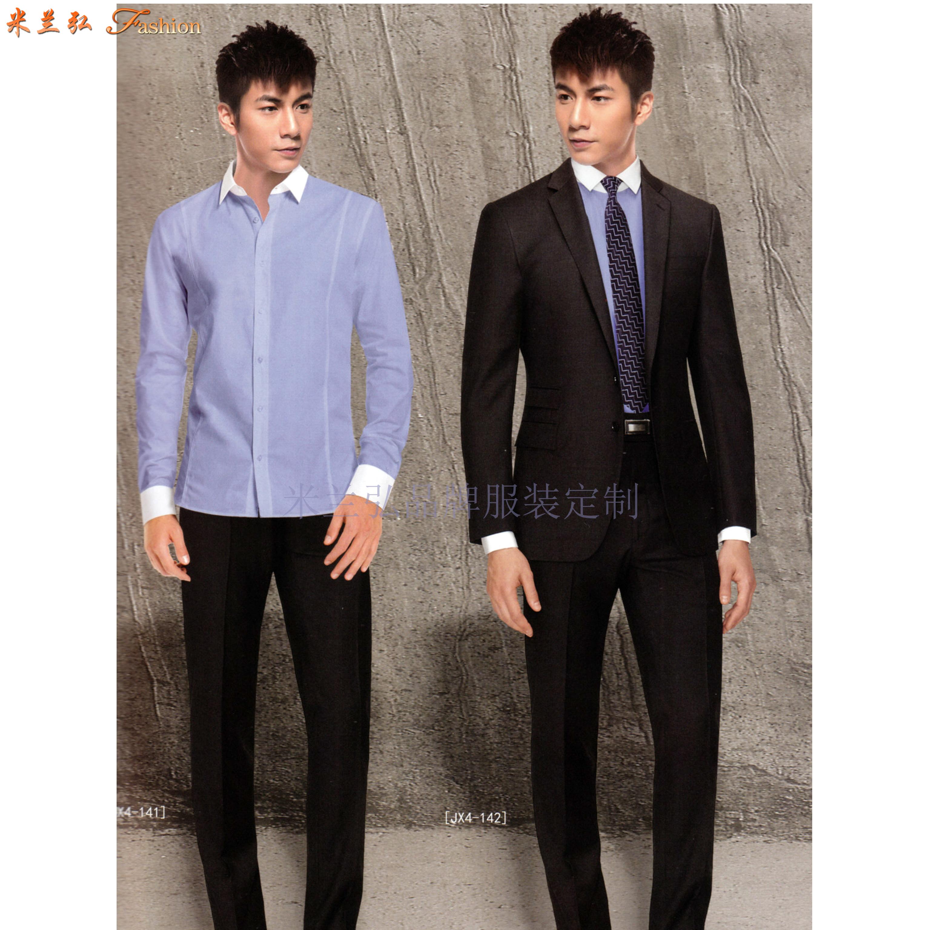 「北京西服定制圖片」男士西服搭配1外套1褲子-米蘭弘西服品牌-4
