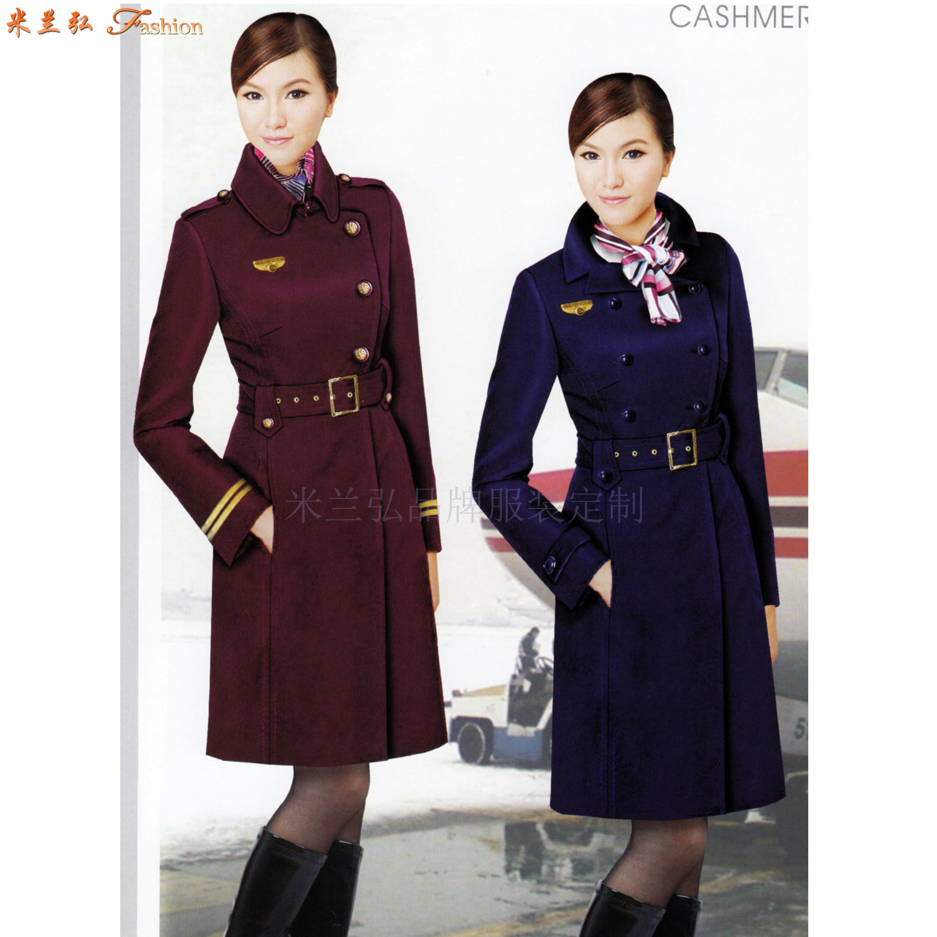 「北京空姐大衣訂制」選擇多年服裝生產經驗廠家-米蘭弘空姐服-4