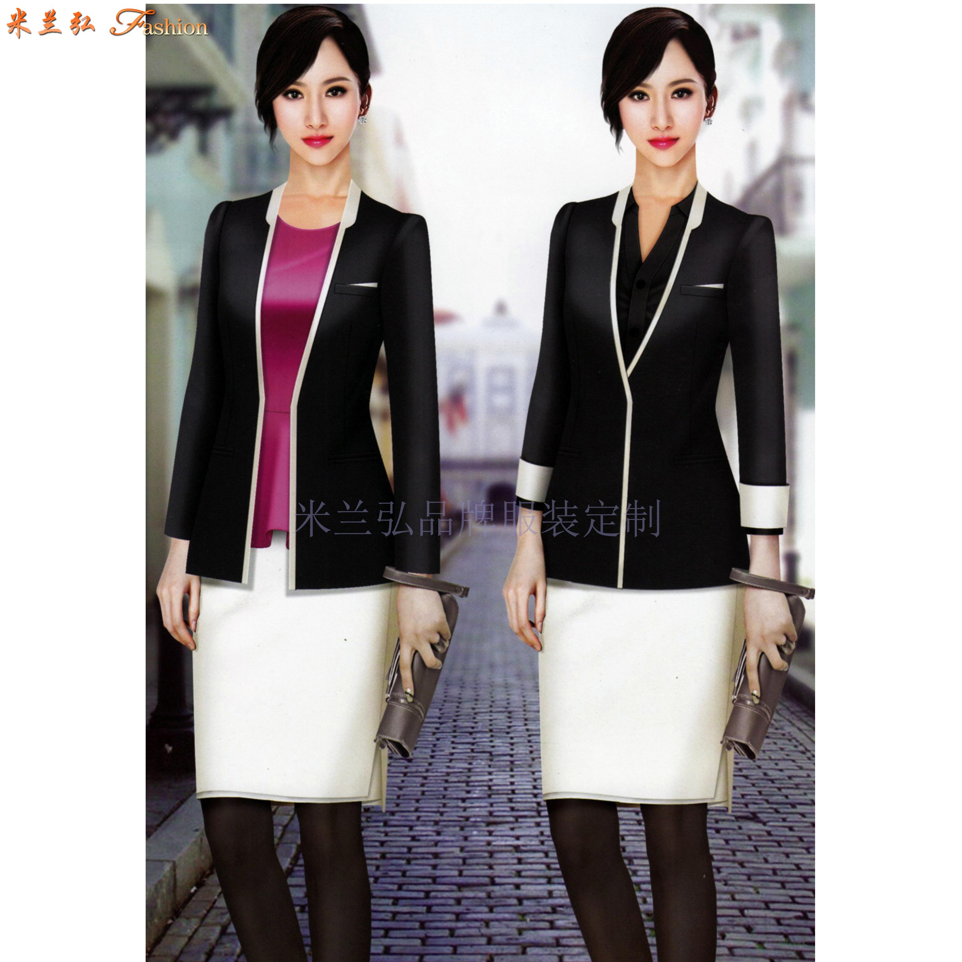 北京高端職業裝定制品牌-米蘭弘公司設計制作職業裝新款女裝圖片-4
