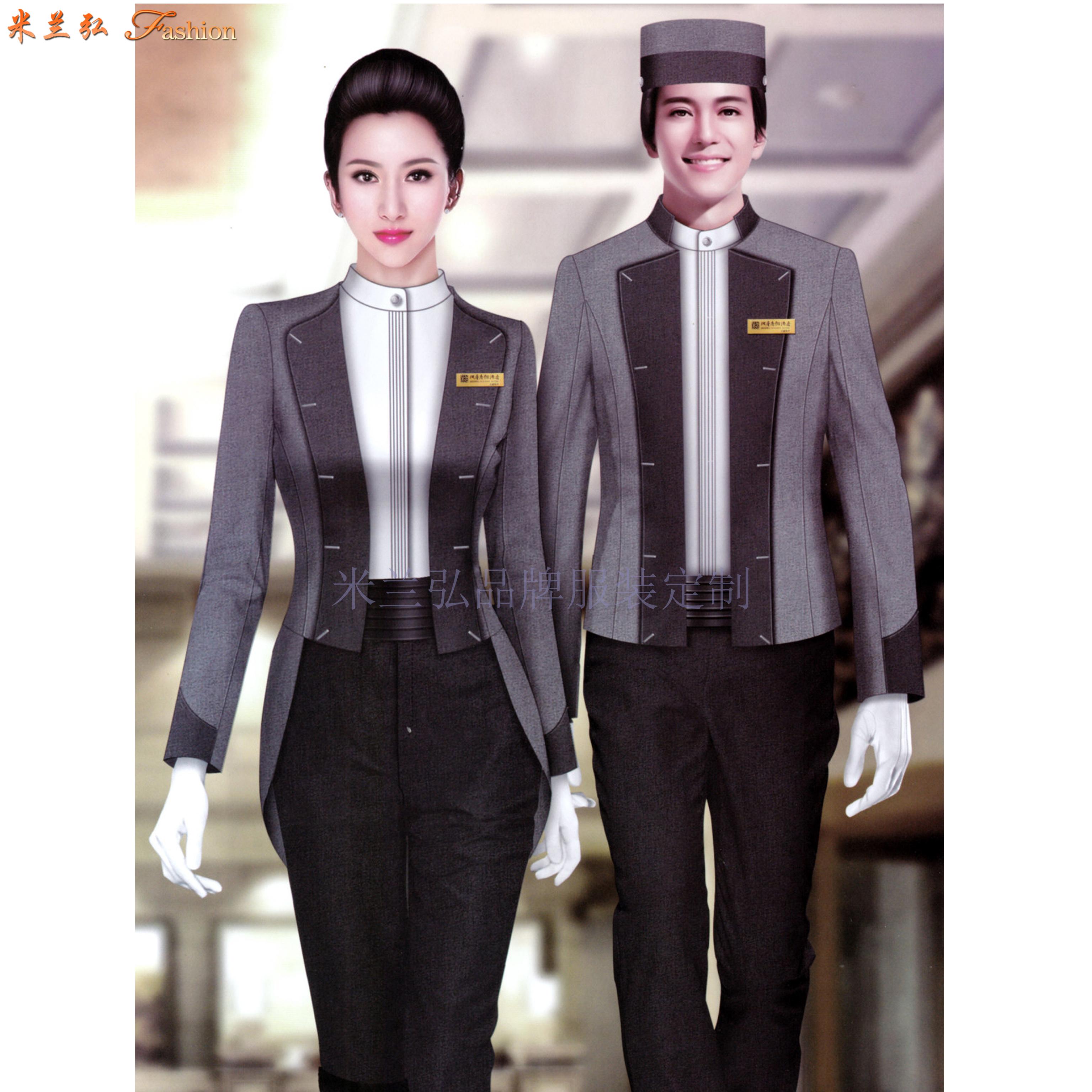 酒店工作服定做|廊坊賓館工裝定制廠家-——Top米蘭弘工服-6