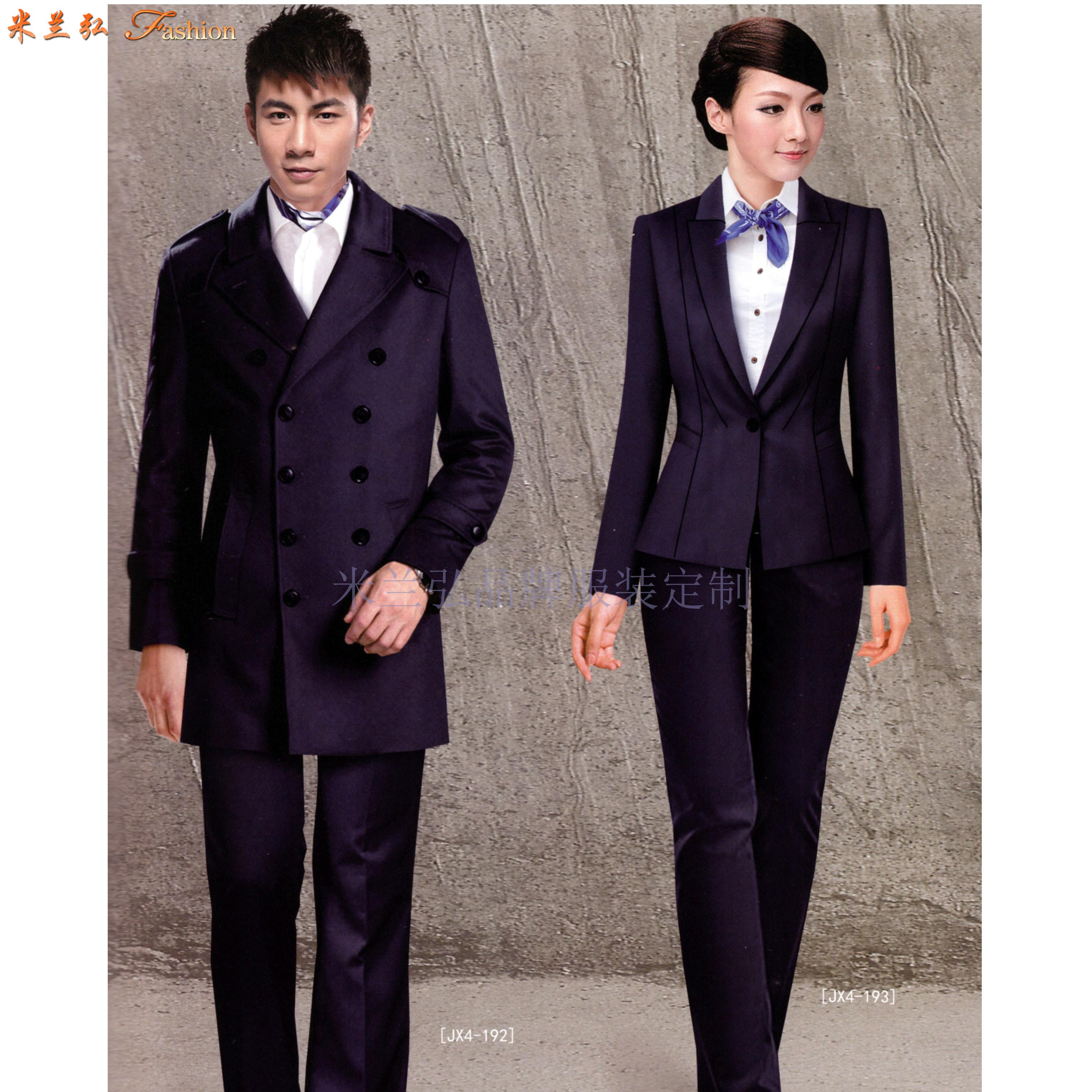 比較正式的商務西服一般選擇黑色或者藏藍色的羊毛面料-米蘭弘-2