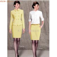 廊坊時尚職業裝訂做|秋冬新款女式兩件套搭配毛滌嗶嘰職業西服-3