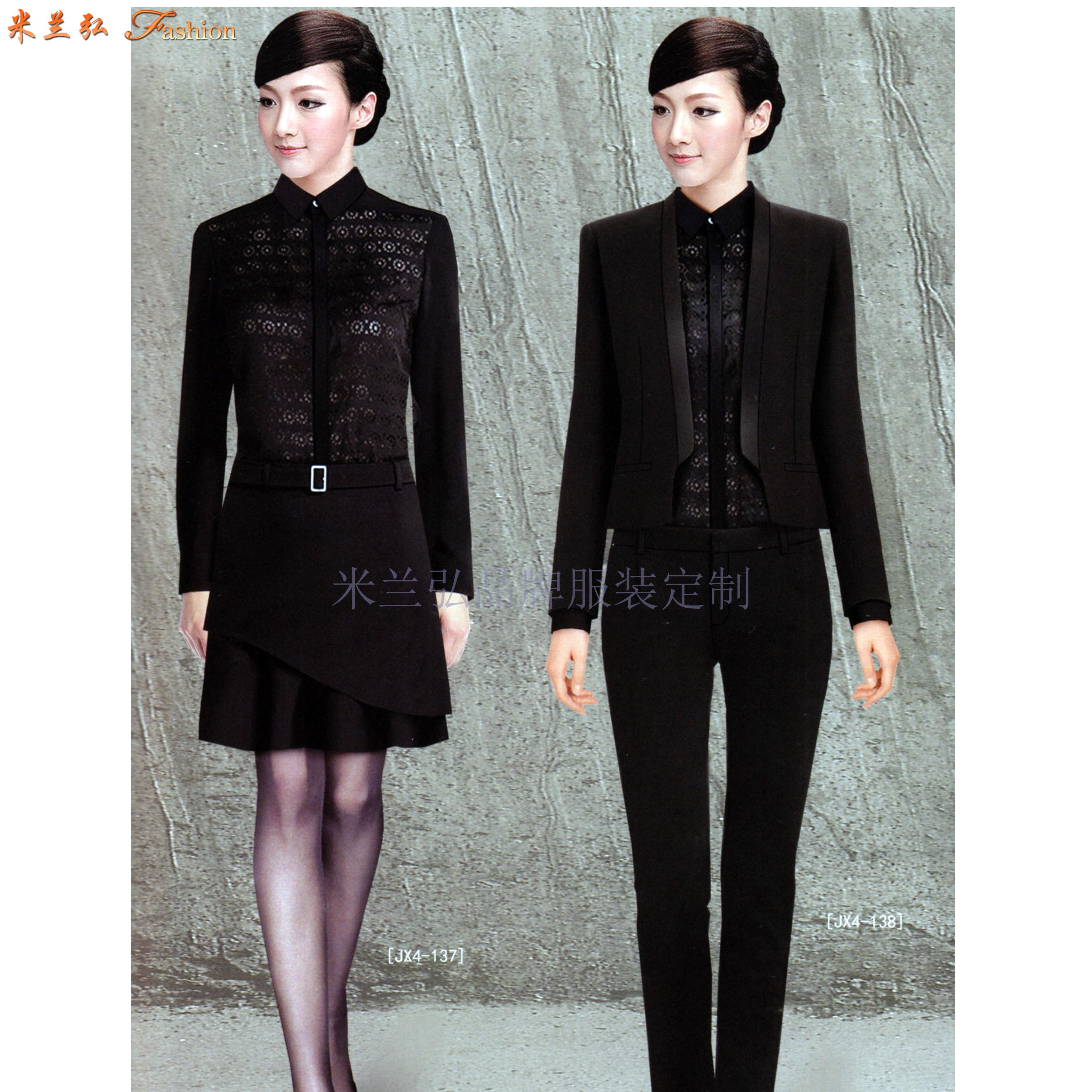 廊坊時尚職業裝訂做|秋冬新款女式兩件套搭配毛滌嗶嘰職業西服-5