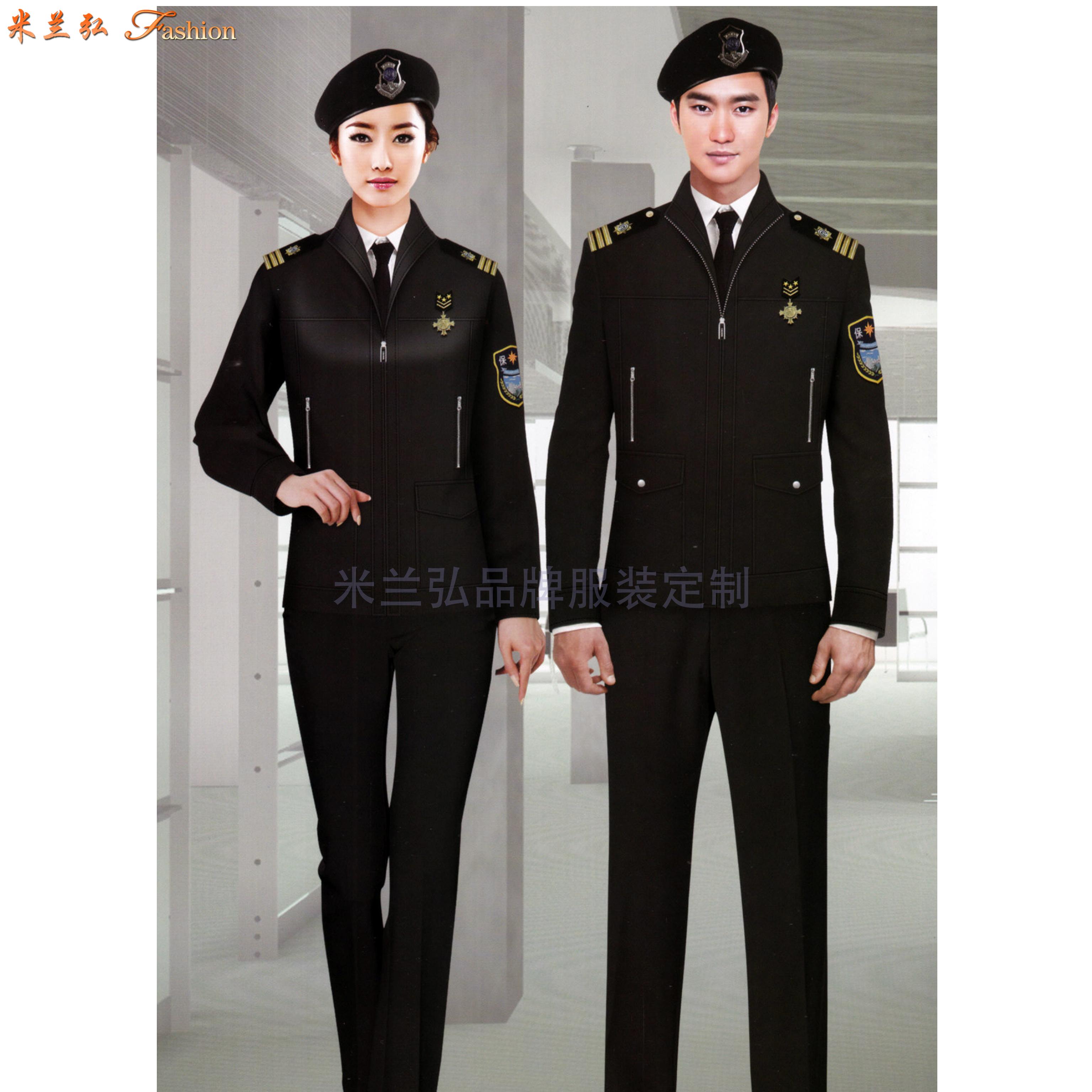 保安服定做廠家|米蘭弘新款價格低質量好的物業酒店安保制服-2