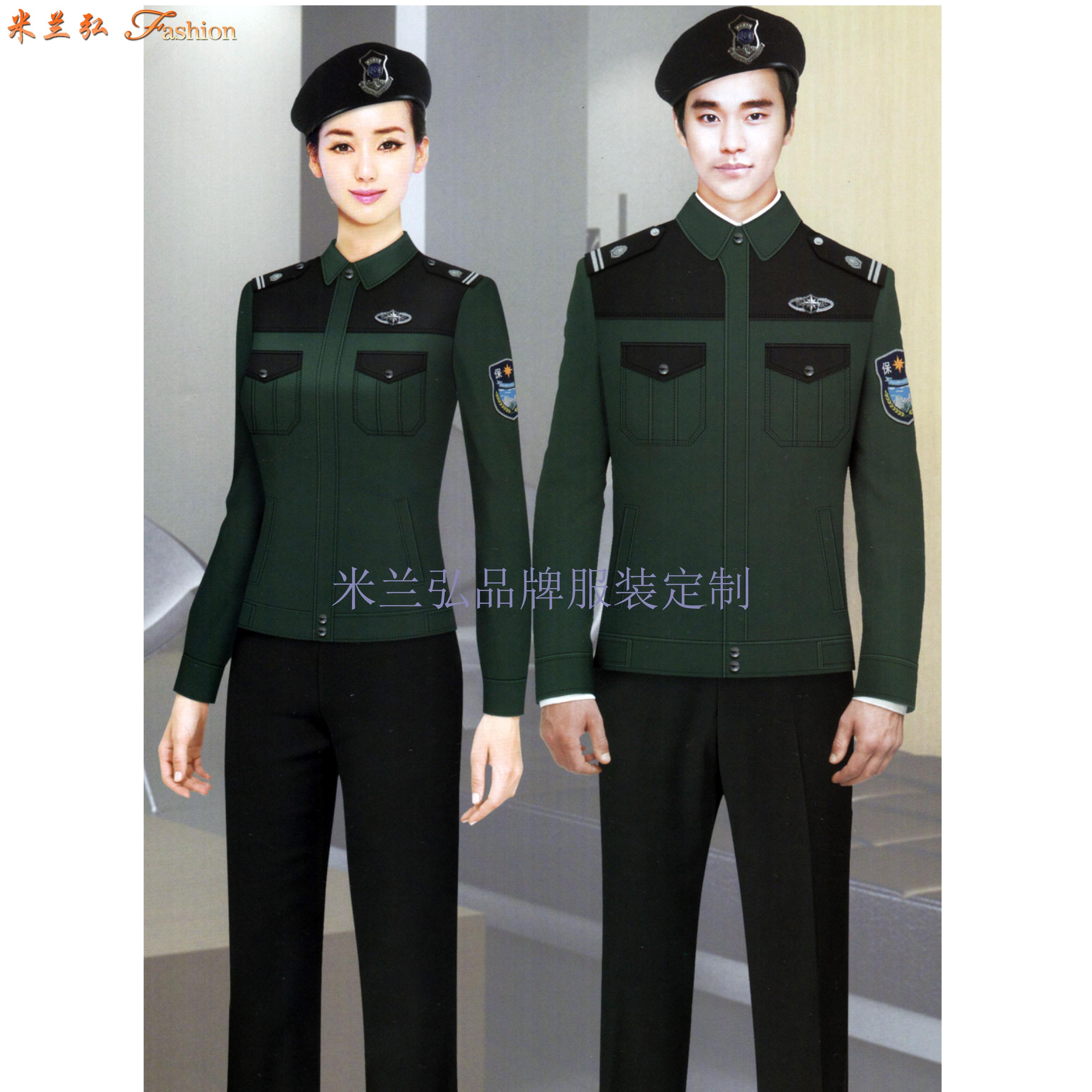 保安服定做廠家|米蘭弘新款價格低質量好的物業酒店安保制服-4