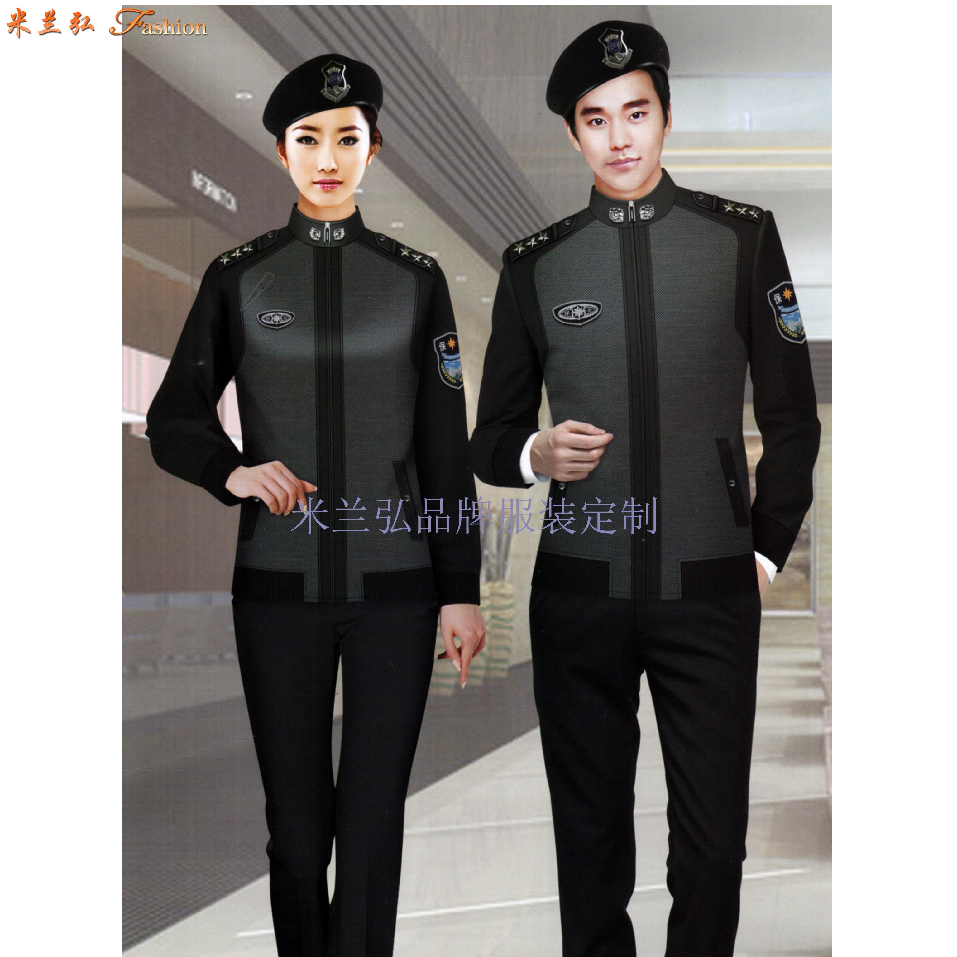 保安服定做廠家|米蘭弘新款價格低質量好的物業酒店安保制服-5