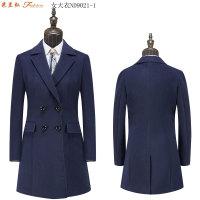 米蘭弘現貨供應供應女士修身單排扣雙排扣羊毛大衣-4