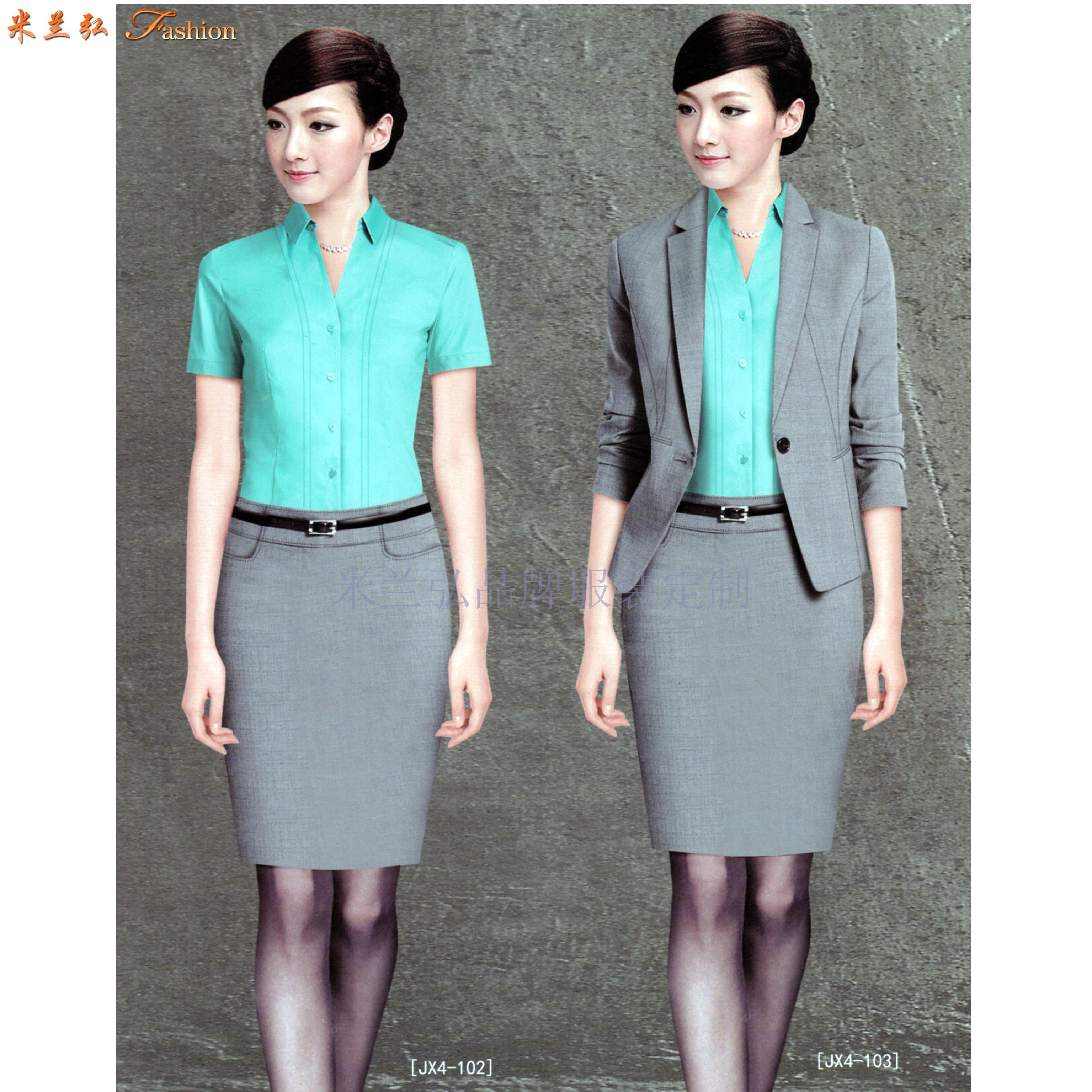「衡水男士西服定制」女式職業裝定做-推薦貨真價實米蘭弘西服廠-5