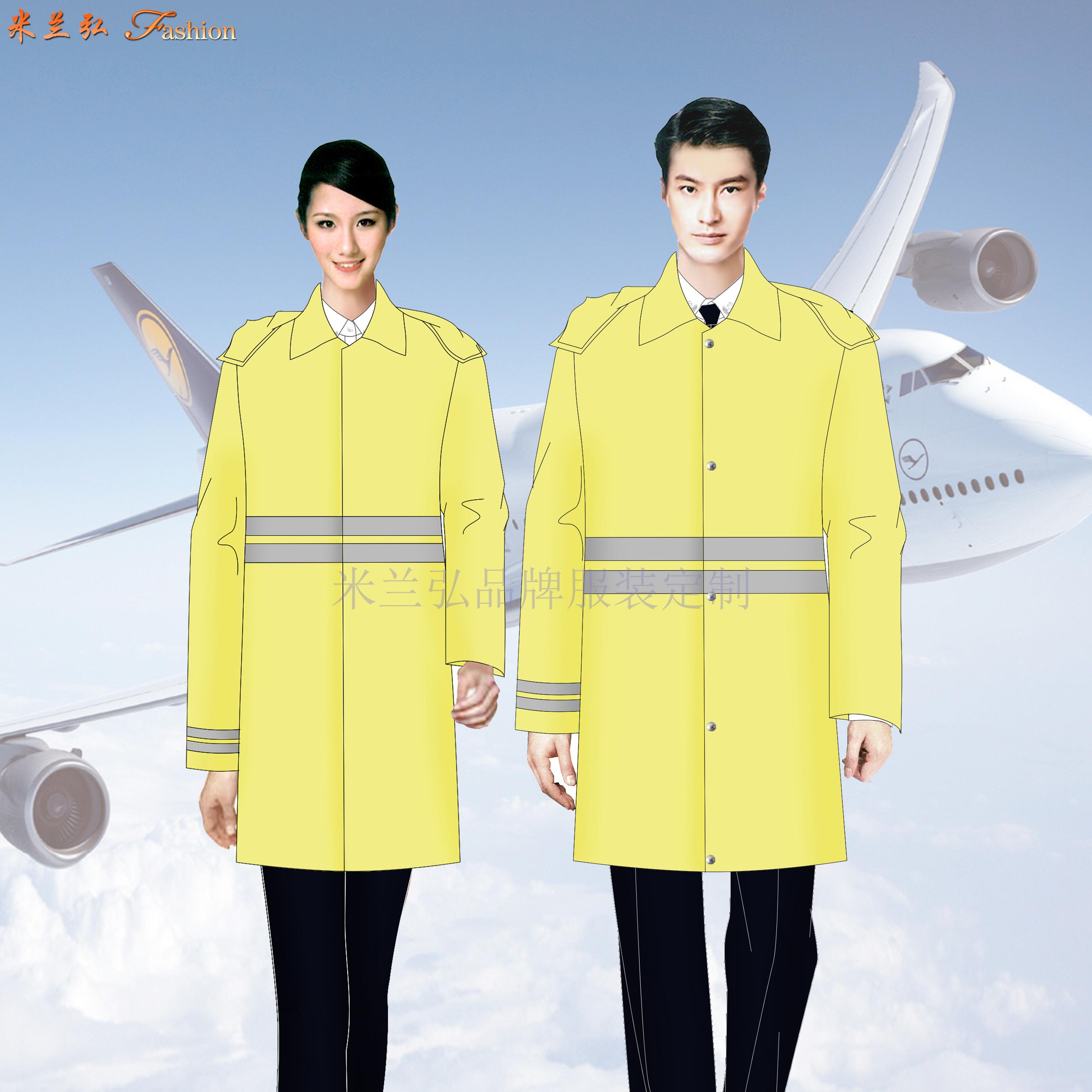 安檢服羊毛大衣定做_機場安檢員大衣訂製_民航安檢棉服定製-1