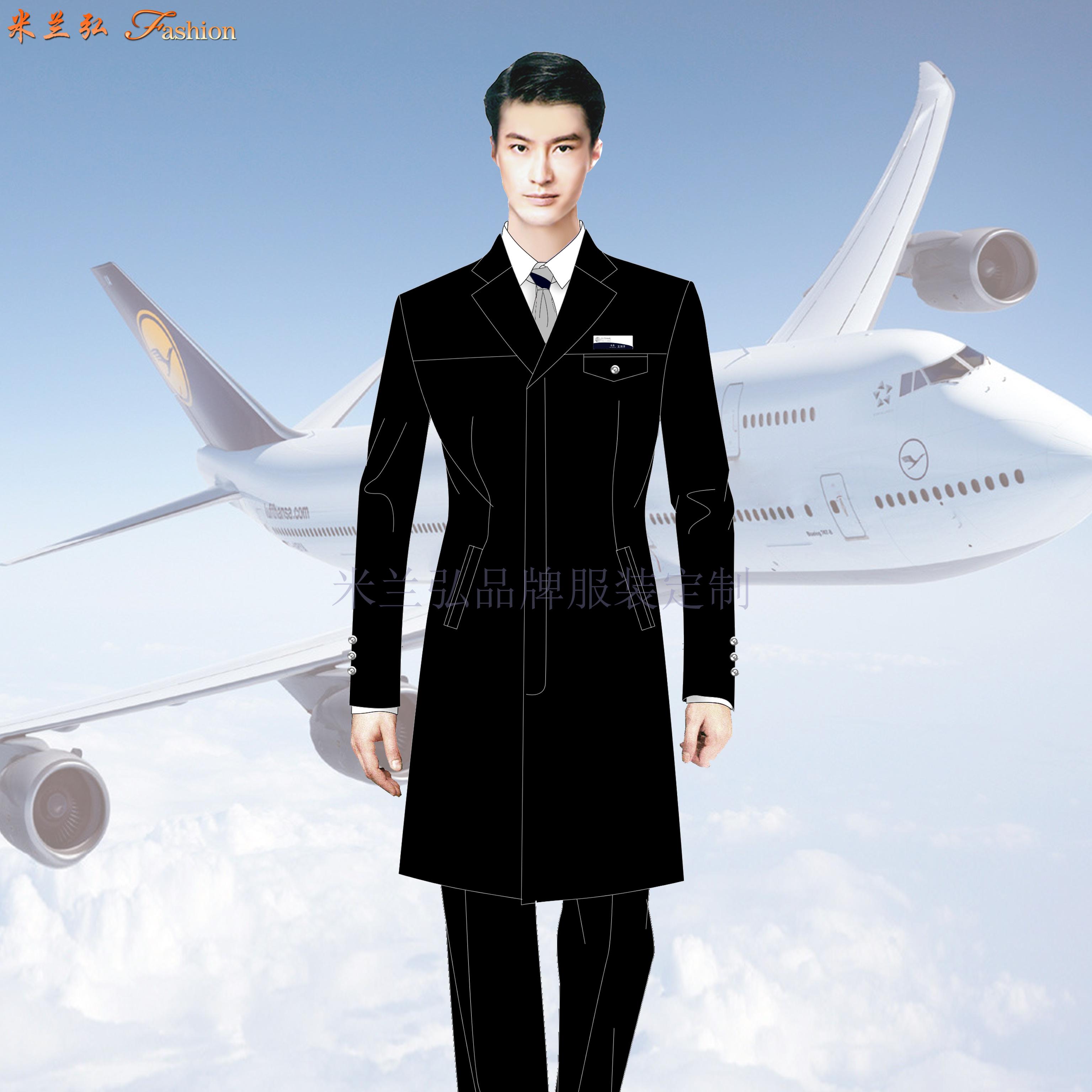 航空公司機長大衣定做_空姐服大衣定制_飛機空乘服大衣訂制-1