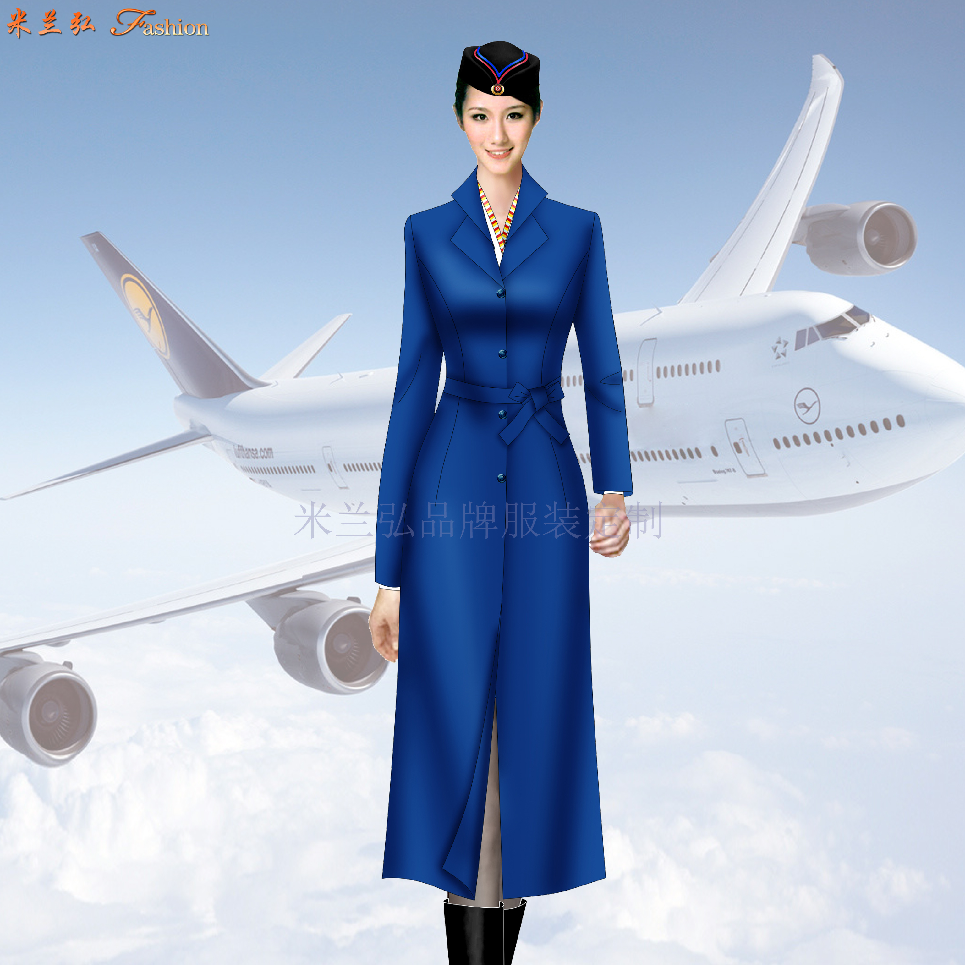 航空公司機長大衣定做_空姐服大衣定制_飛機空乘服大衣訂制-2