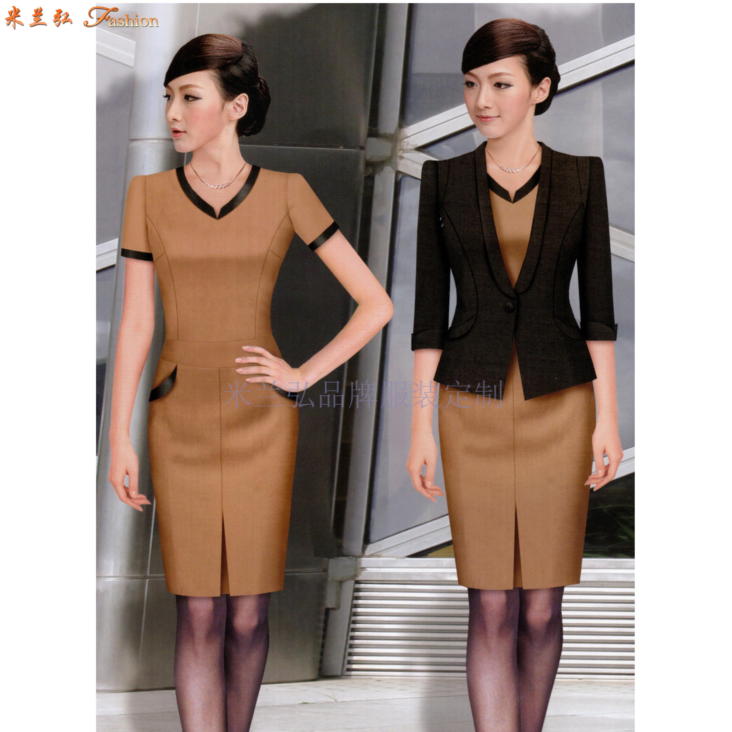 2020夏季女士職業裝搭配_上班職業裝連衣裙定做_米蘭弘服裝-1