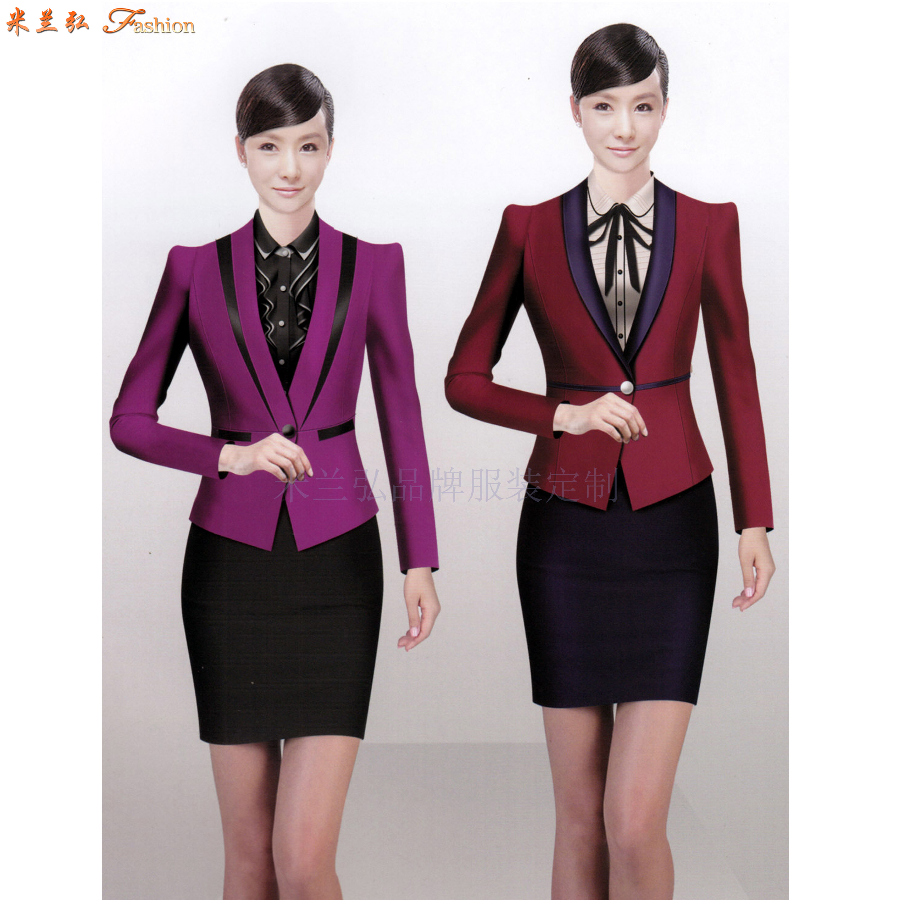 白領職業裝定做_辦公室職業裝制做_OL時尚職業裝定制👍-4