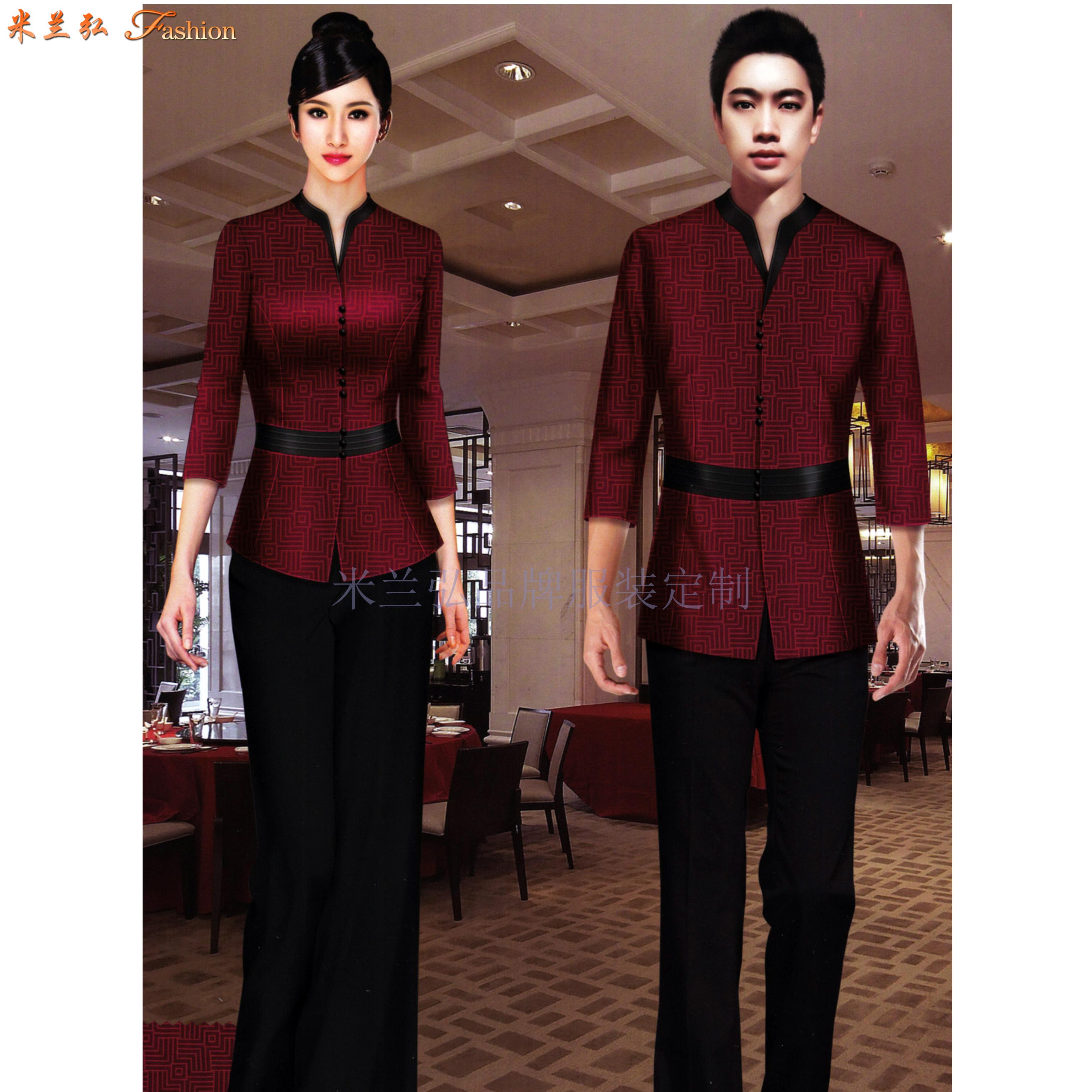 「廊坊酒店服裝定做」推薦設計制作五星酒店制服十年廠家-米蘭弘-1