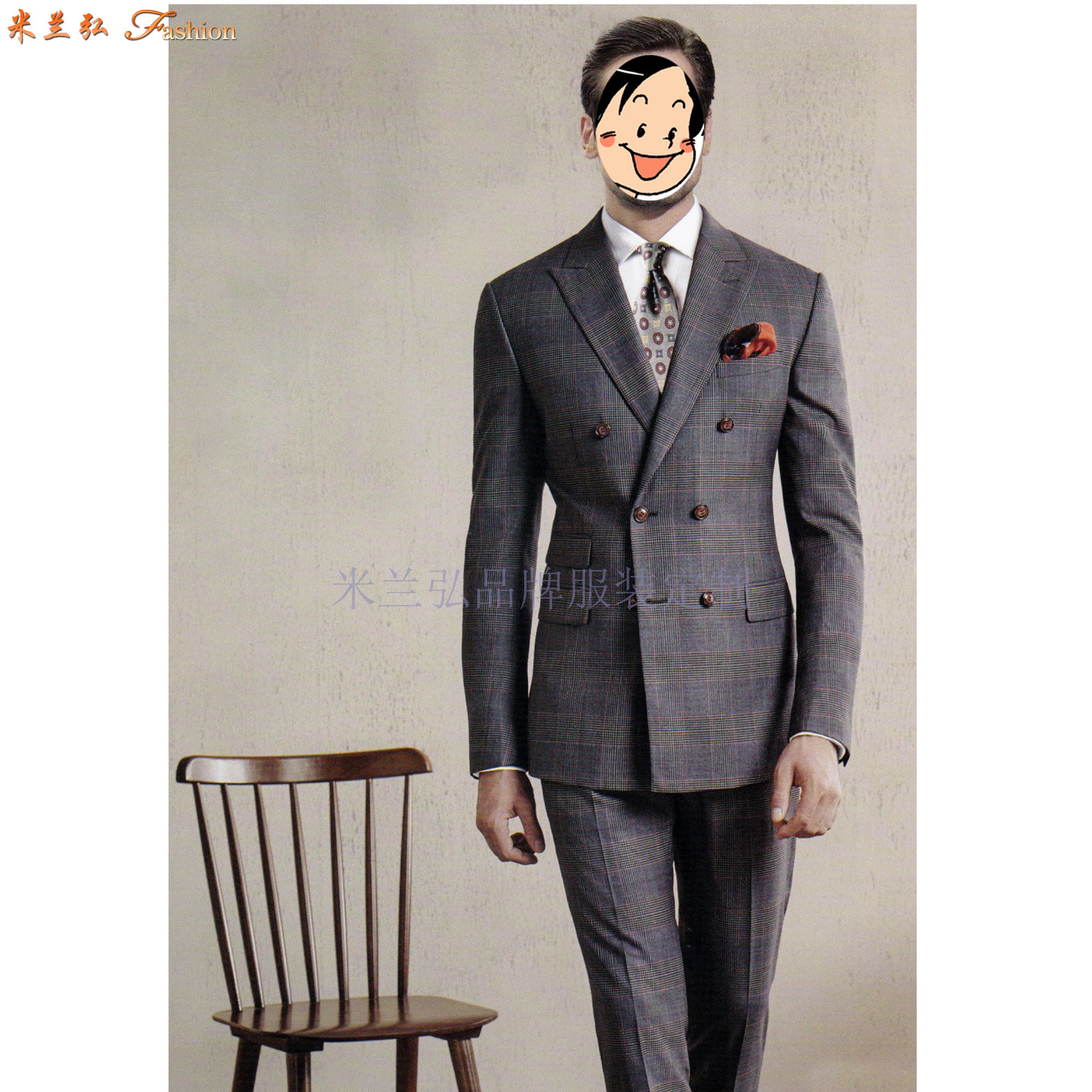 「廊坊量身定制品牌西服的地方」推薦西裝筆挺米蘭弘西服公司-1