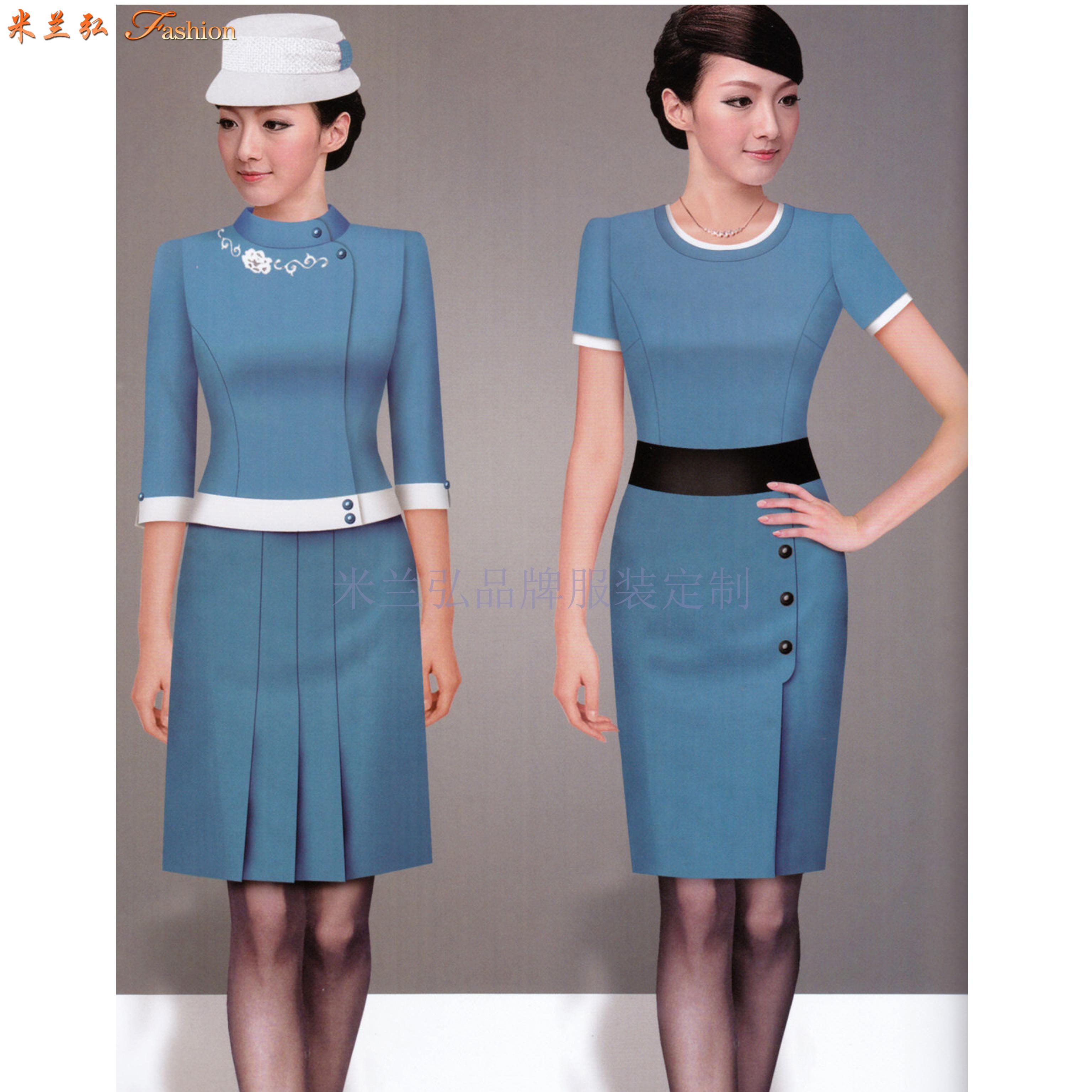 「工作服連衣裙定制」北京連衣裙量身訂制廠家-米蘭弘服裝-3