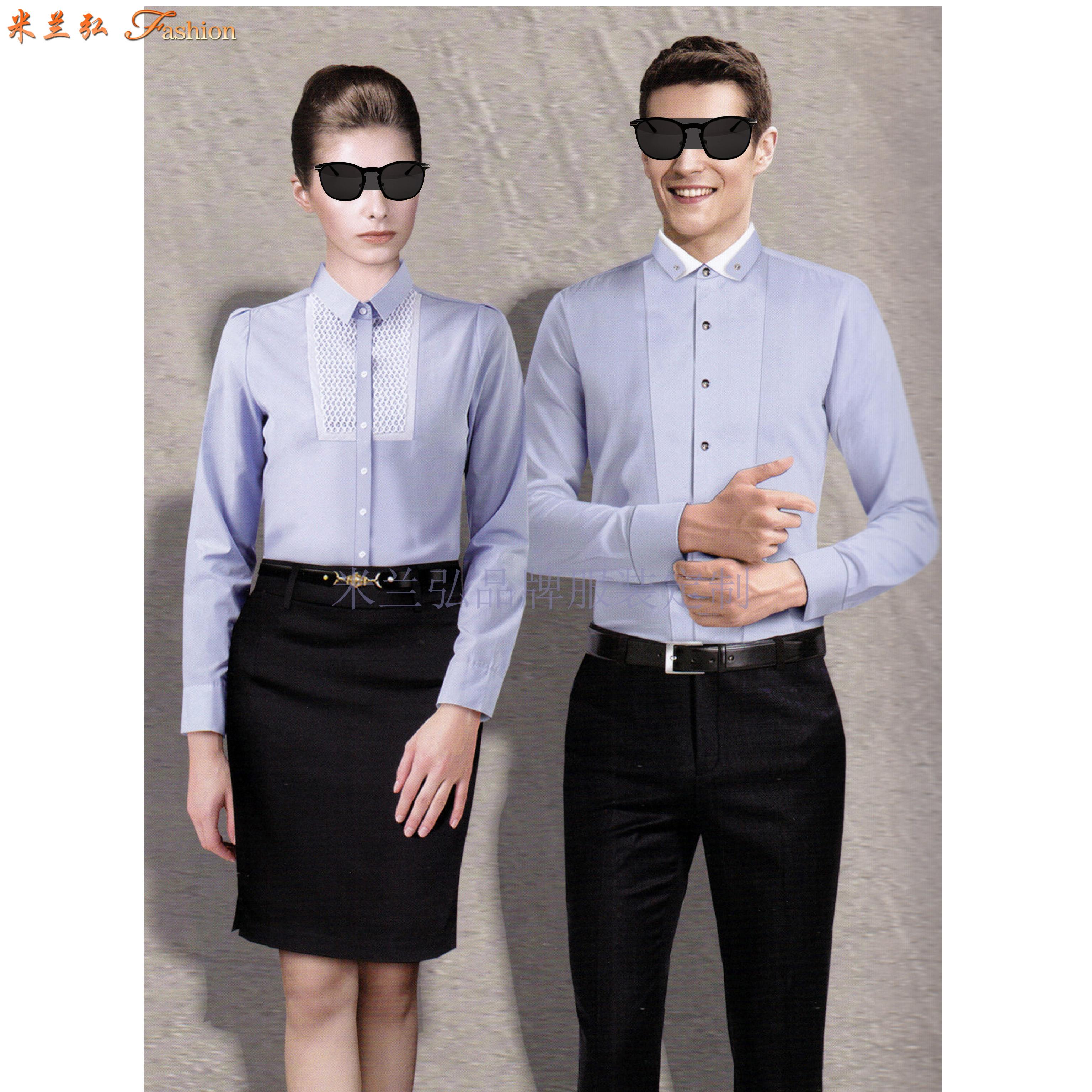 「男式襯衫訂制」「女士襯衫定做」工作服襯衫定制工廠-米蘭弘-2
