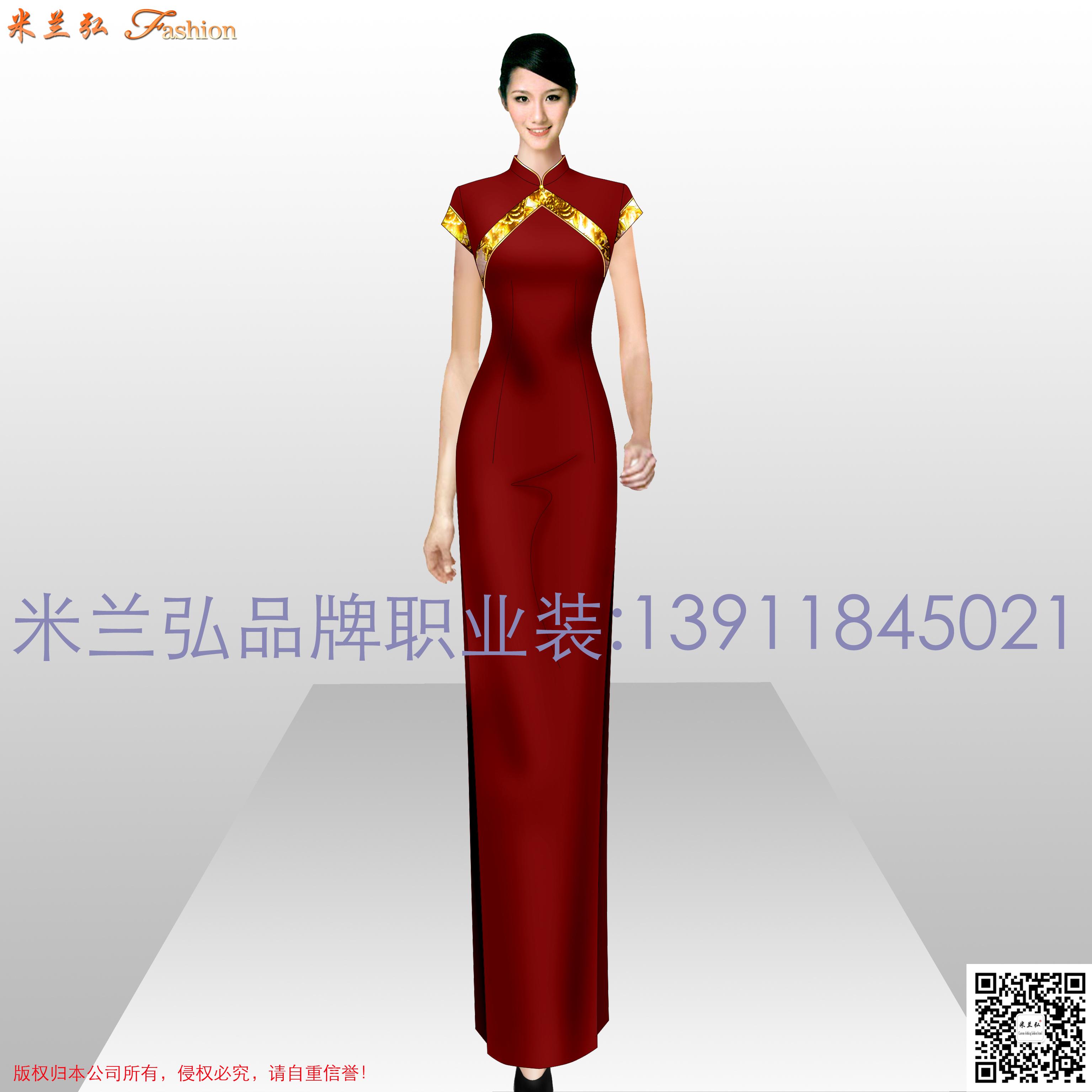 「中式旗袍定制」「古典旗袍訂制」-米蘭弘品牌服裝-1