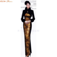 「中式旗袍定制」「古典旗袍訂制」-米蘭弘服裝-1