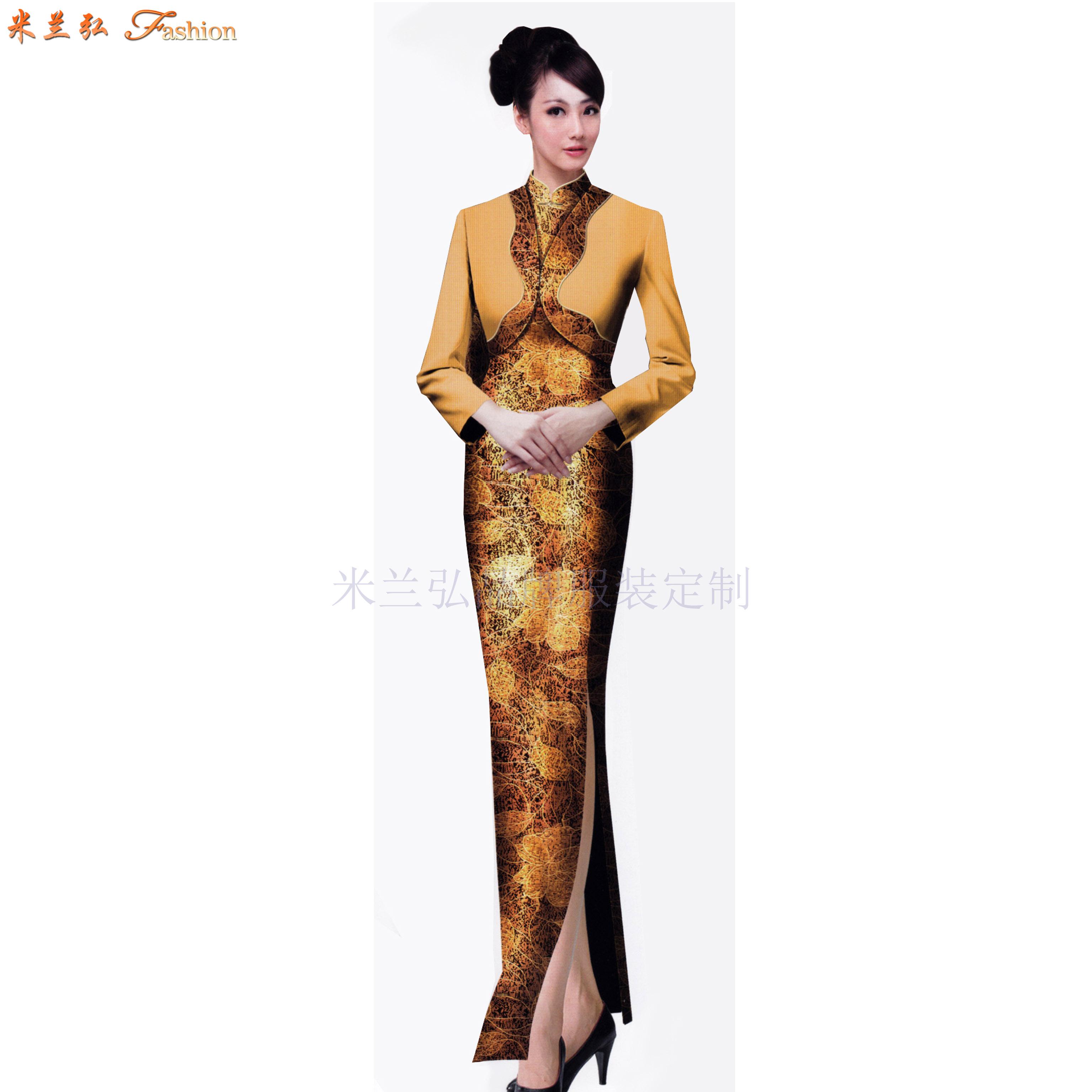 「中式旗袍定制」「古典旗袍訂制」-米蘭弘服裝-2